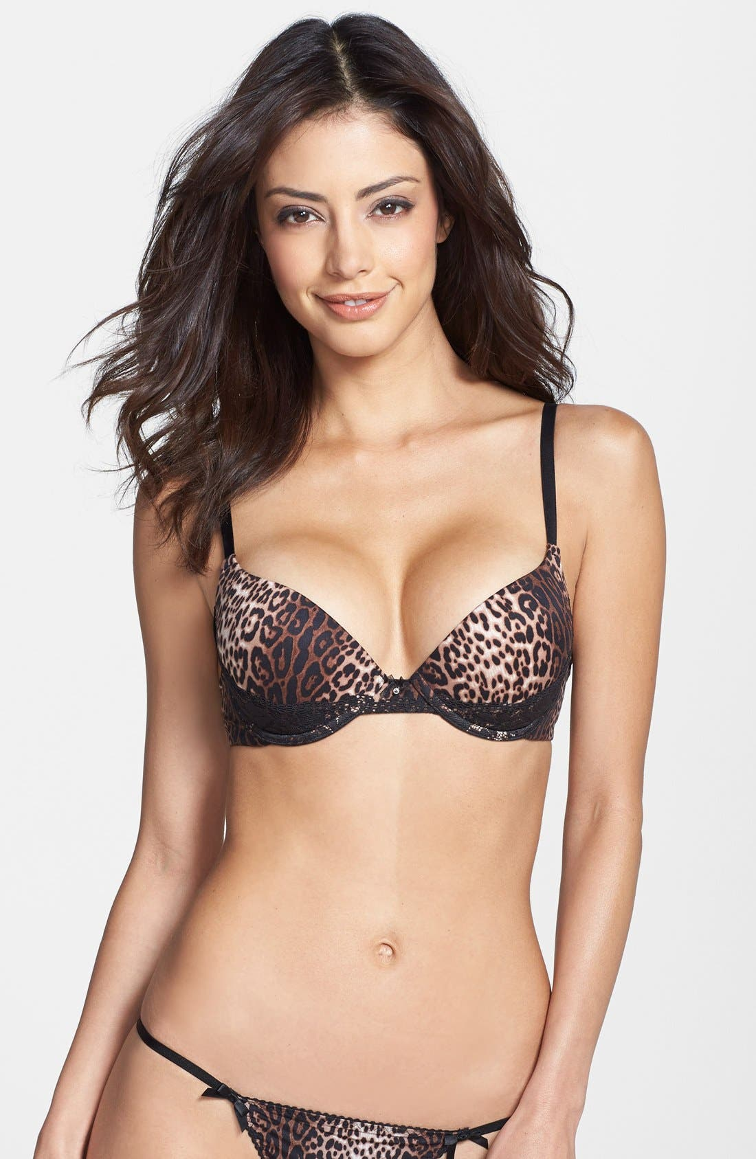 Alternate Image 1 Selected - Betsey Johnson 'Forever Perfect' Lace Trim Push-Up Bra