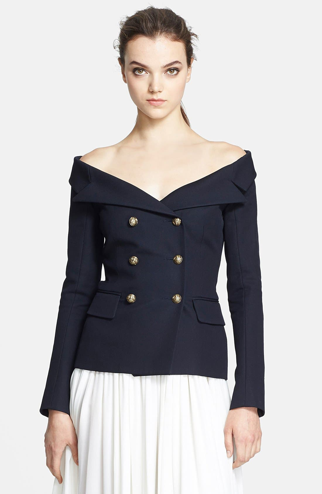 Alternate Image 1 Selected - Faith Connexion 'Serge' Off Shoulder Wool Jacket