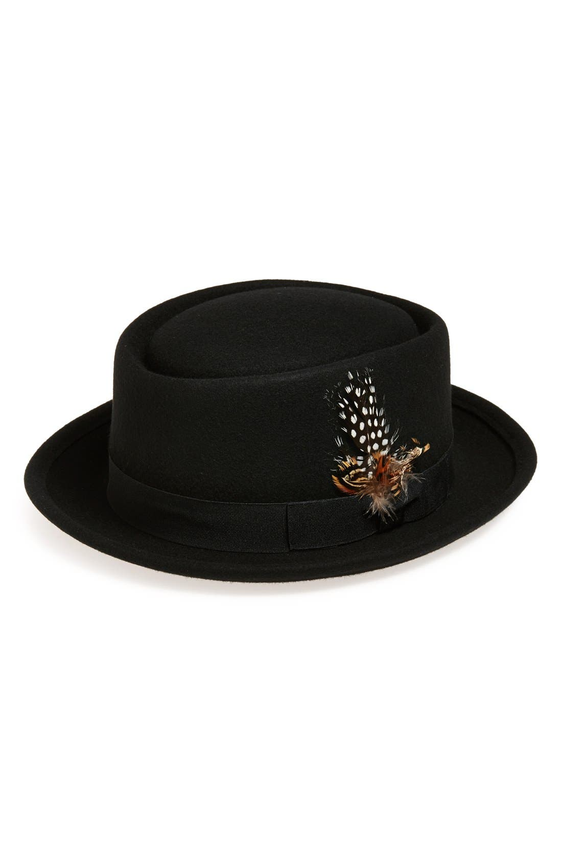Main Image - Tildon Feather Embellished Wool Bowler Hat