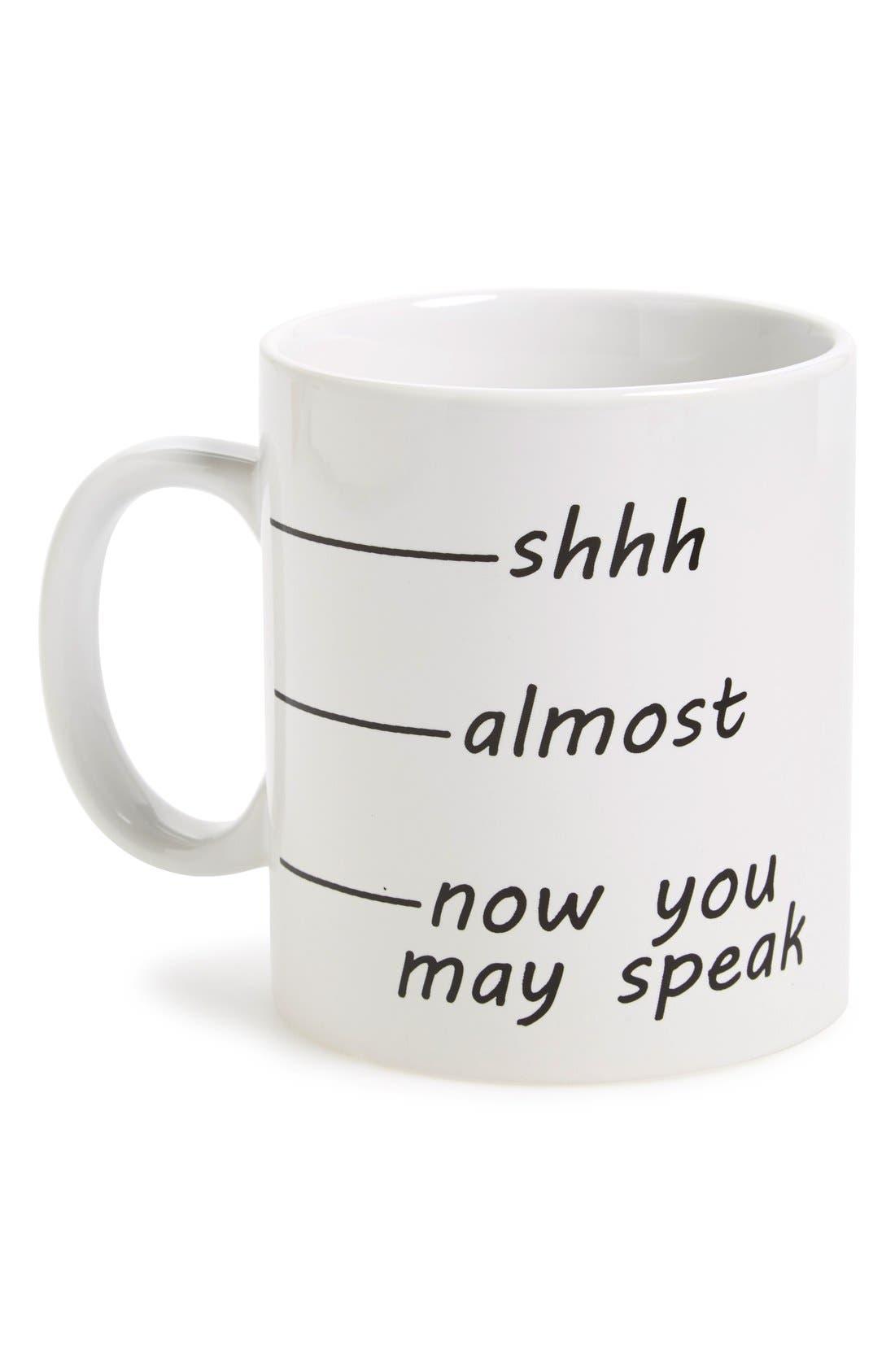 Alternate Image 1 Selected - Barbuzzo 'Shhh' Ceramic Mug