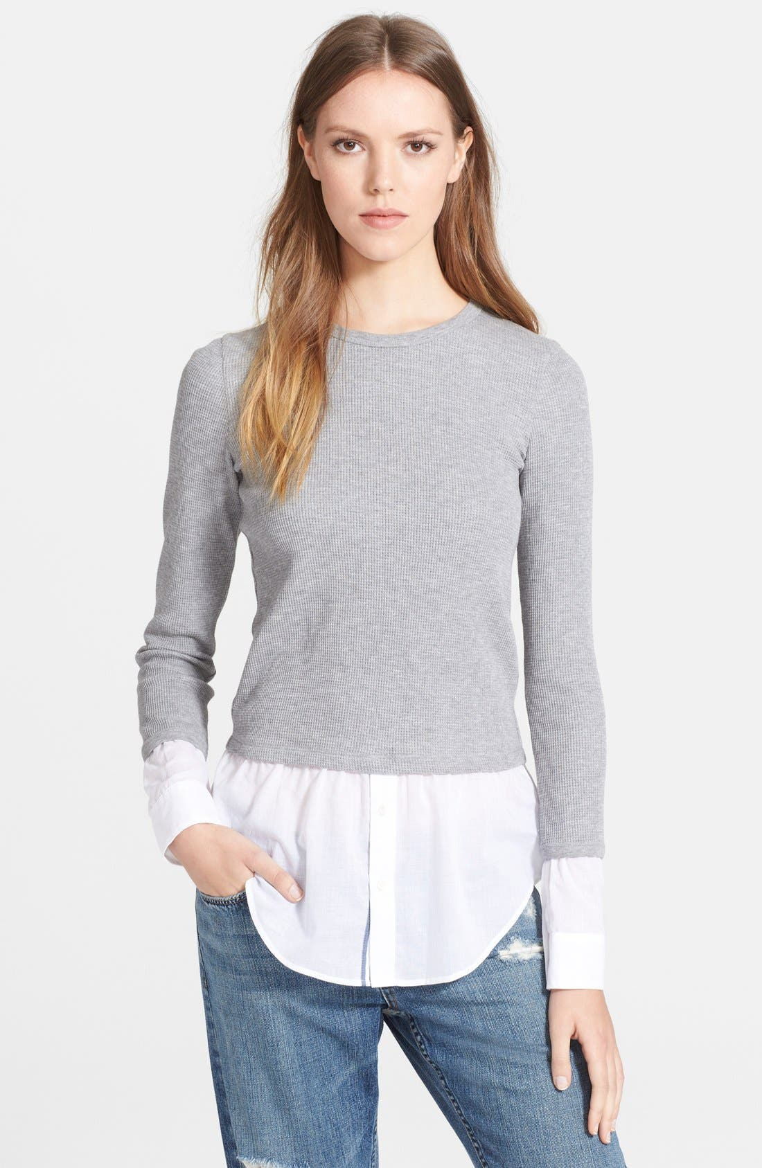 Alternate Image 1 Selected - Theory 'Mikaela' Layered Thermal Top