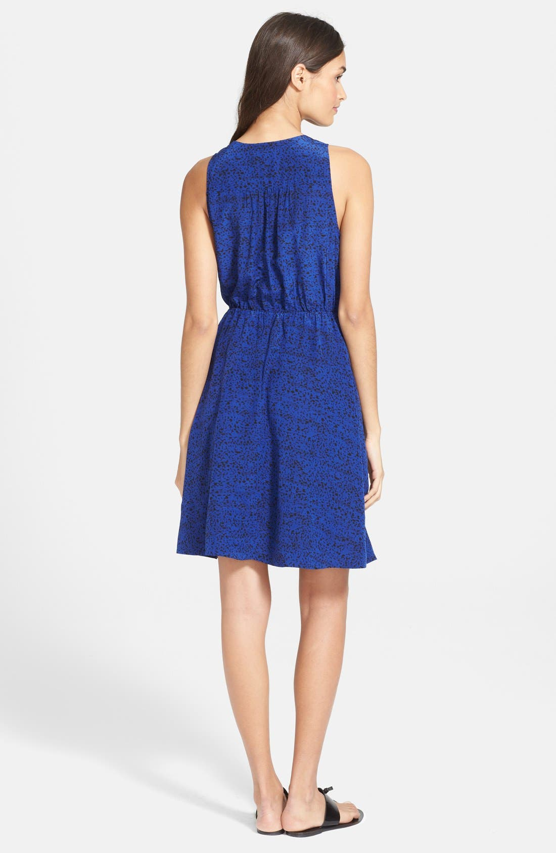Alternate Image 2  - Rebecca Taylor Ink Dot Print Silk Blouson Dress