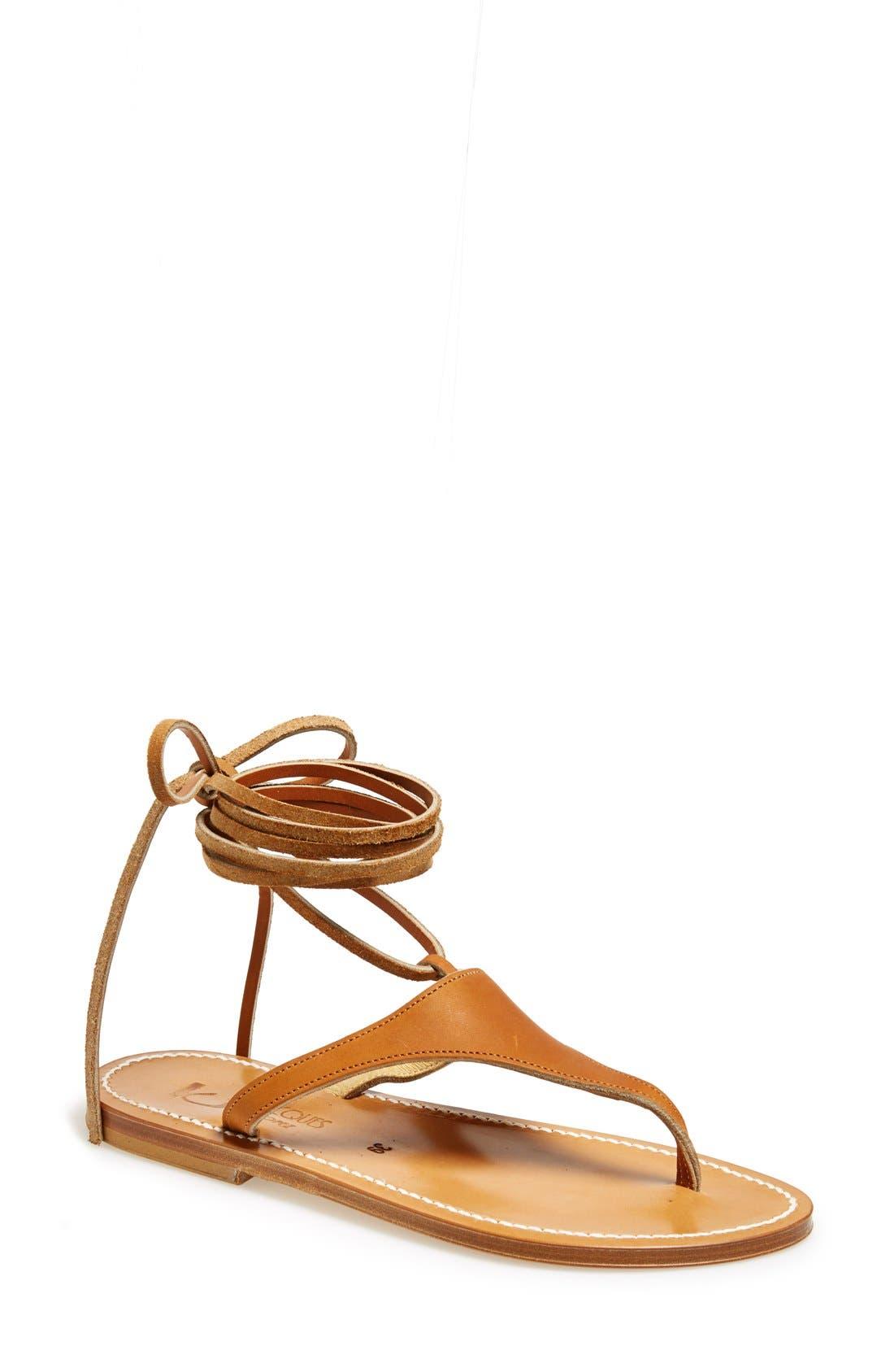 Alternate Image 1 Selected - K.Jacques St. Tropez Ankle Wrap Thong Sandal (Women)