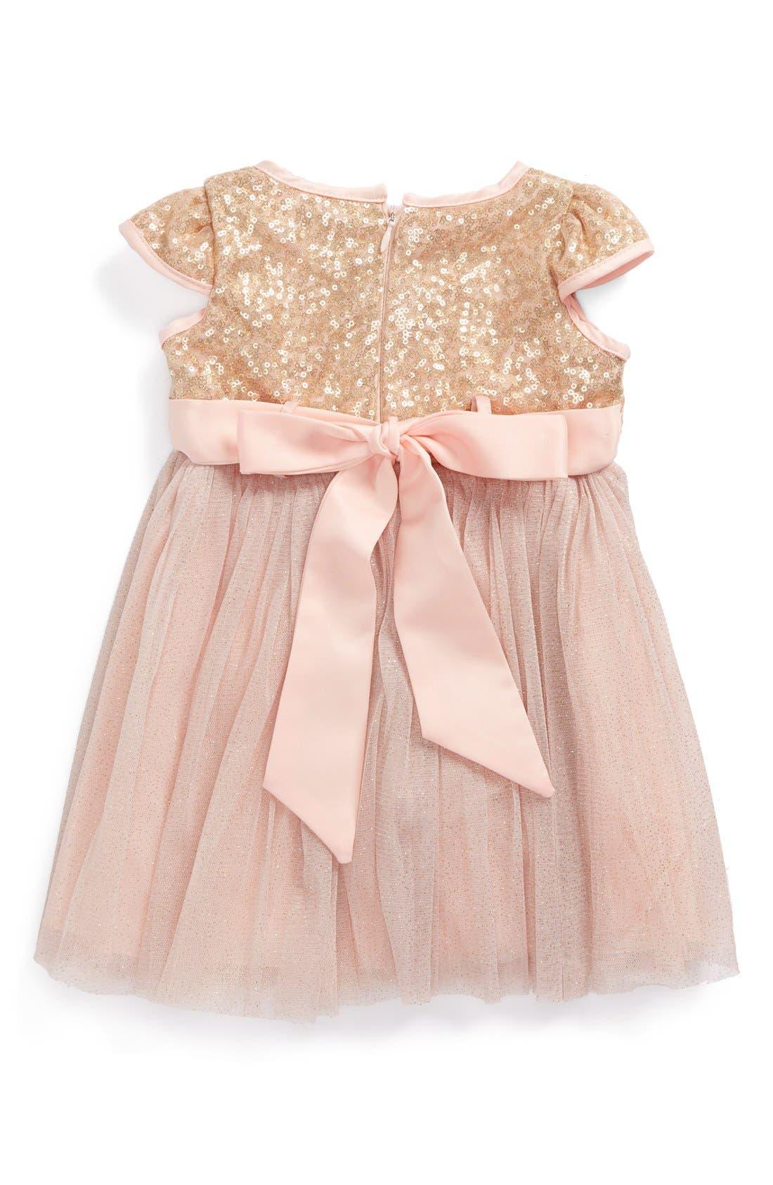 Alternate Image 2  - Dorissa Tulle Sequin Dress (Baby Girls)