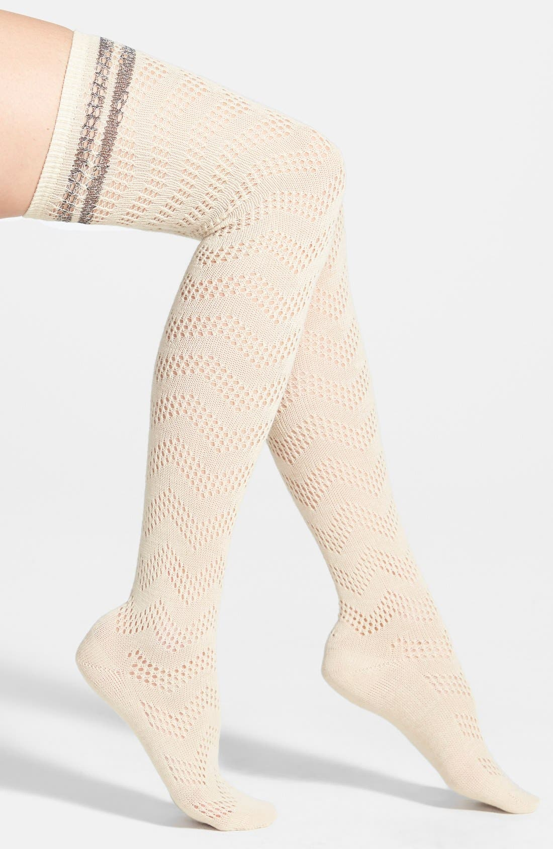 Alternate Image 1 Selected - Free People 'Shine A Light' Over the Knee Socks