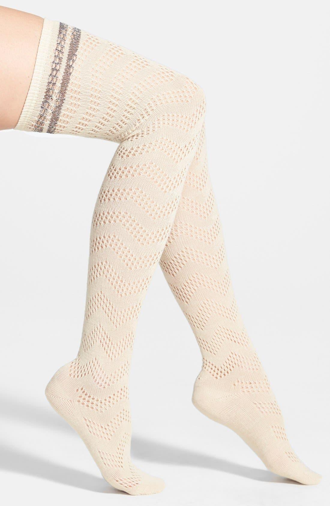 Main Image - Free People 'Shine A Light' Over the Knee Socks