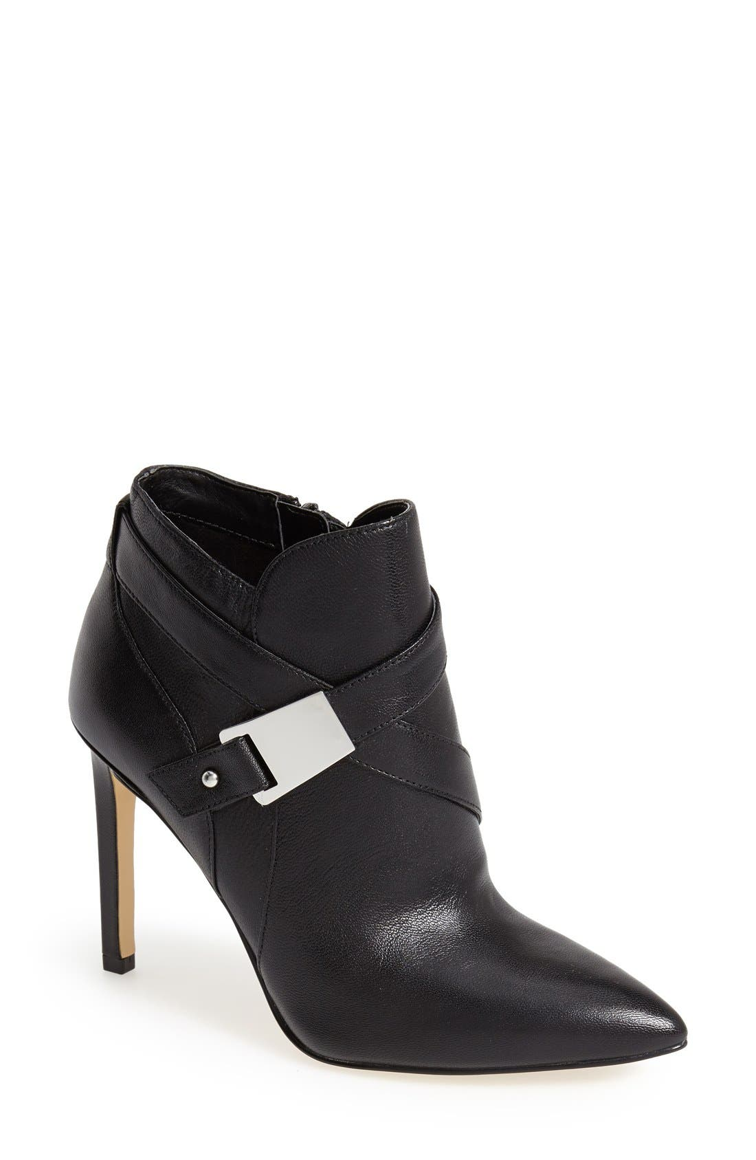Main Image - GUESS 'Valari' Leather Pointy Toe Bootie (Women)