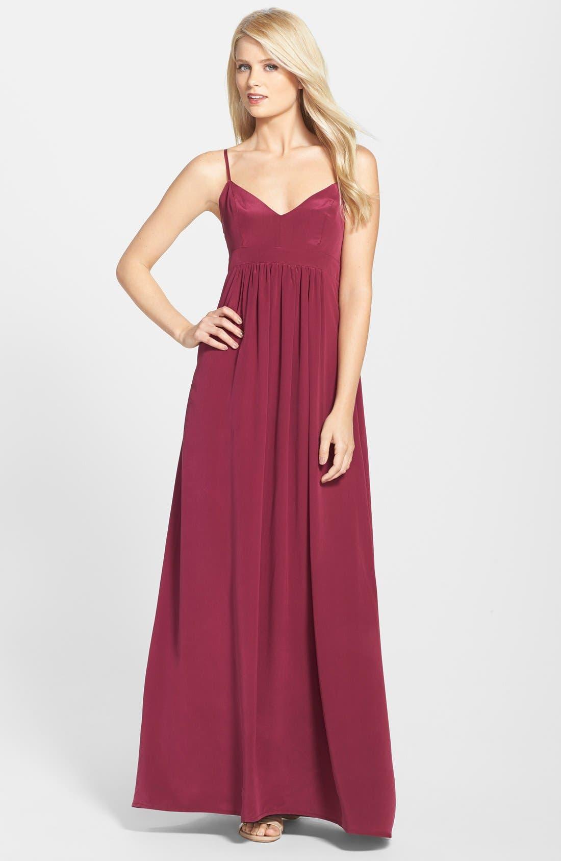 Alternate Image 1 Selected - Amanda Uprichard Silk Maxi Dress
