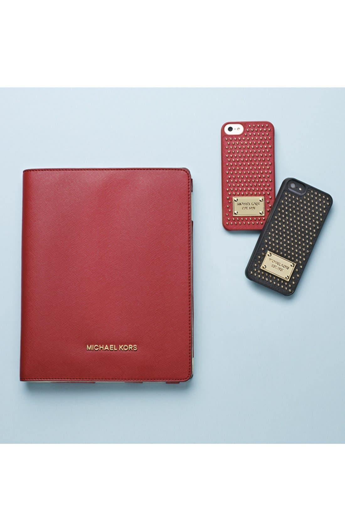 Alternate Image 4  - MICHAEL Michael Kors Studded Leather iPhone 5 & 5s Case