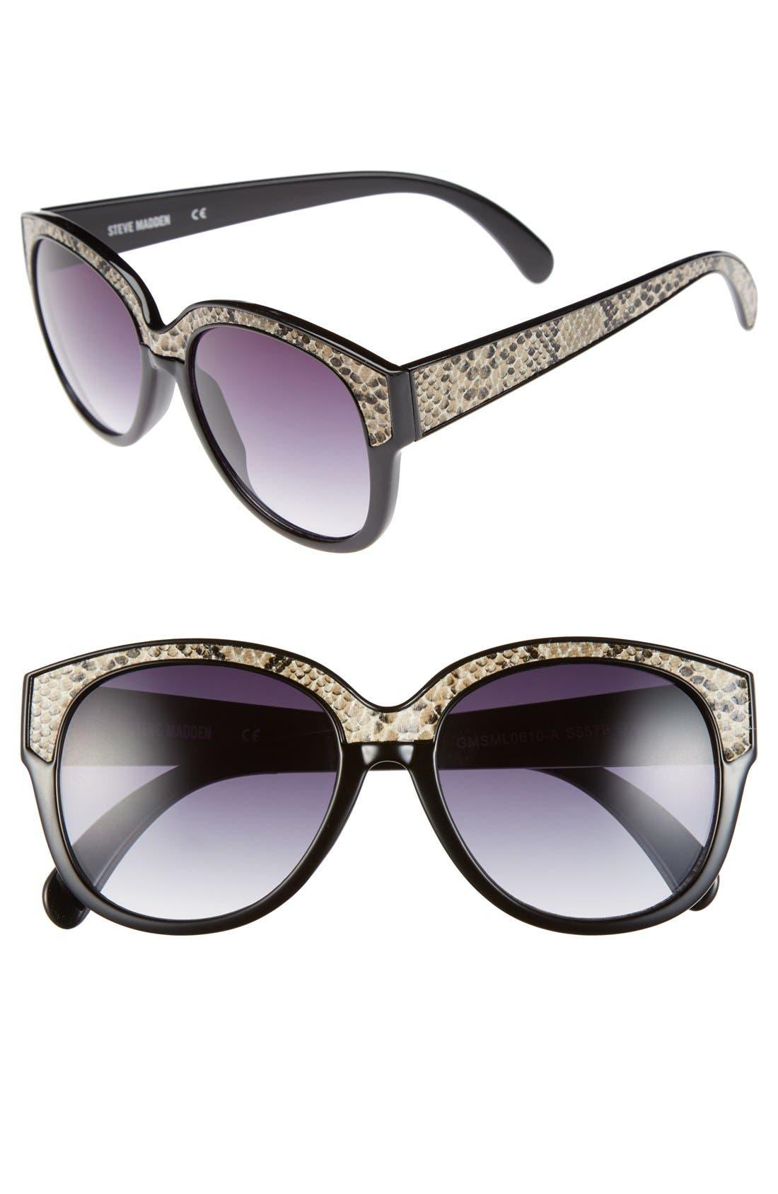 Main Image - Steve Madden 55mm Retro Sunglasses
