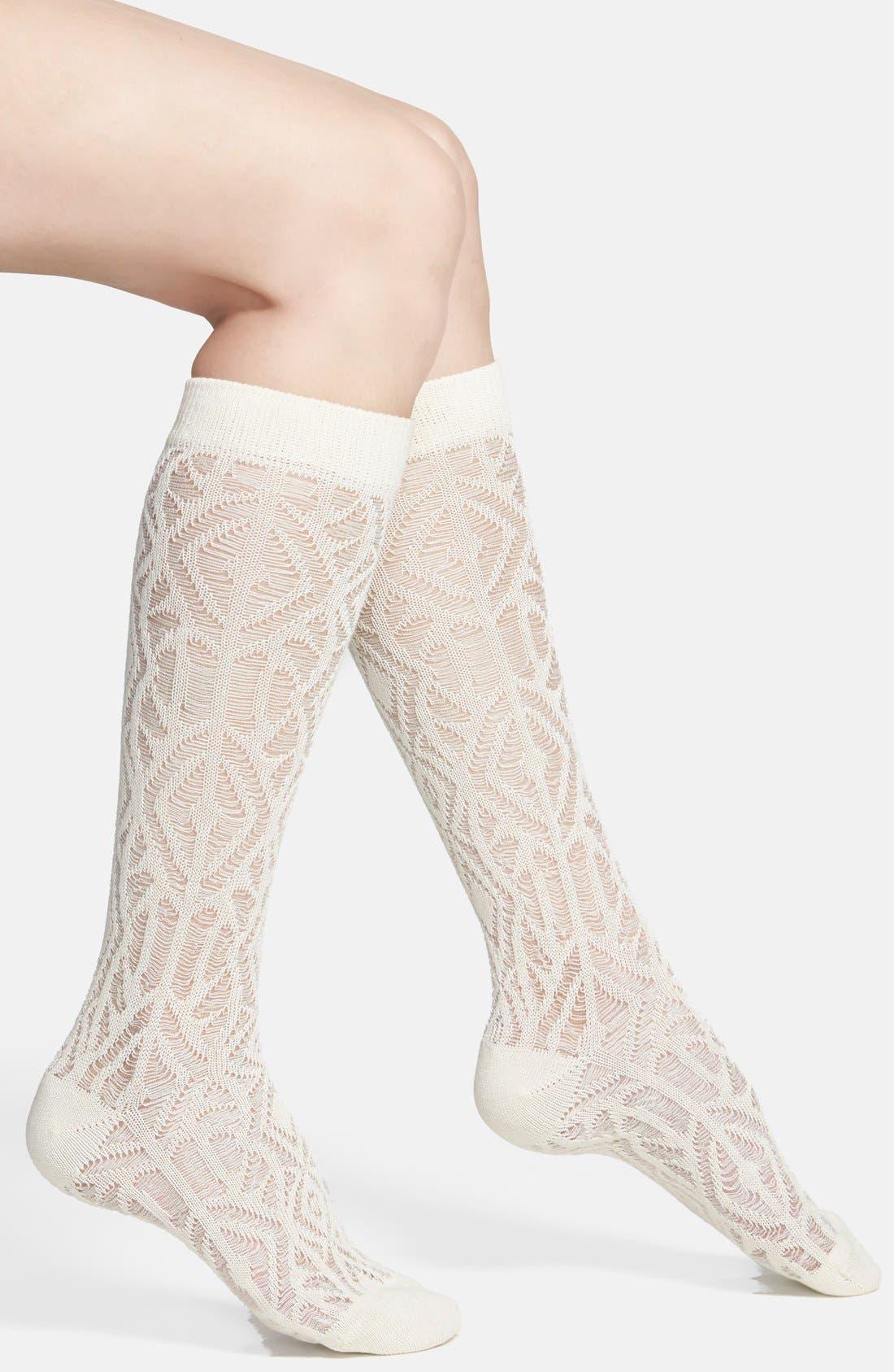 Alternate Image 1 Selected - Nordstrom Sheer Knit Knee Socks