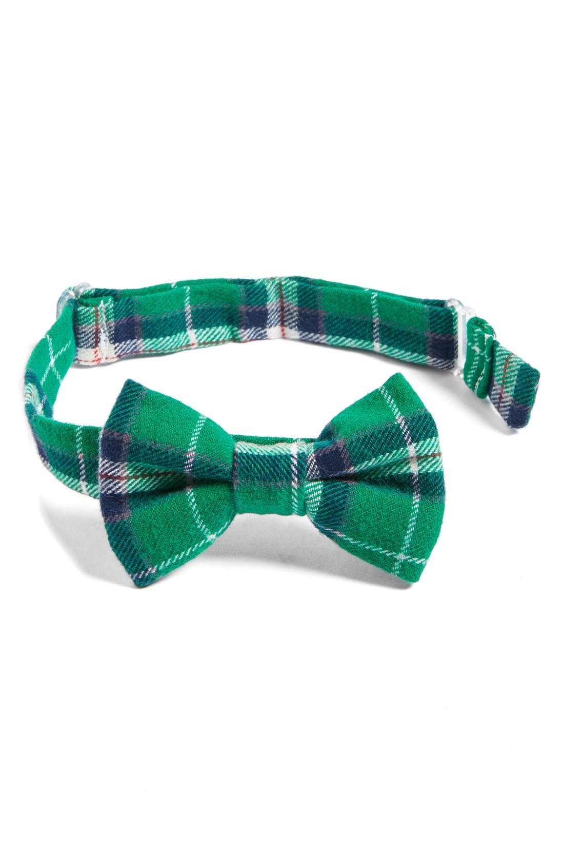 Main Image - Baby Bow Tie Plaid Cotton Bow Tie (Baby Boys)