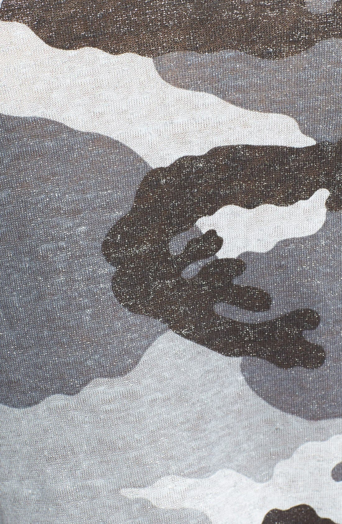 Alternate Image 3  - Majestic Camo Print Linen Baseball Tee