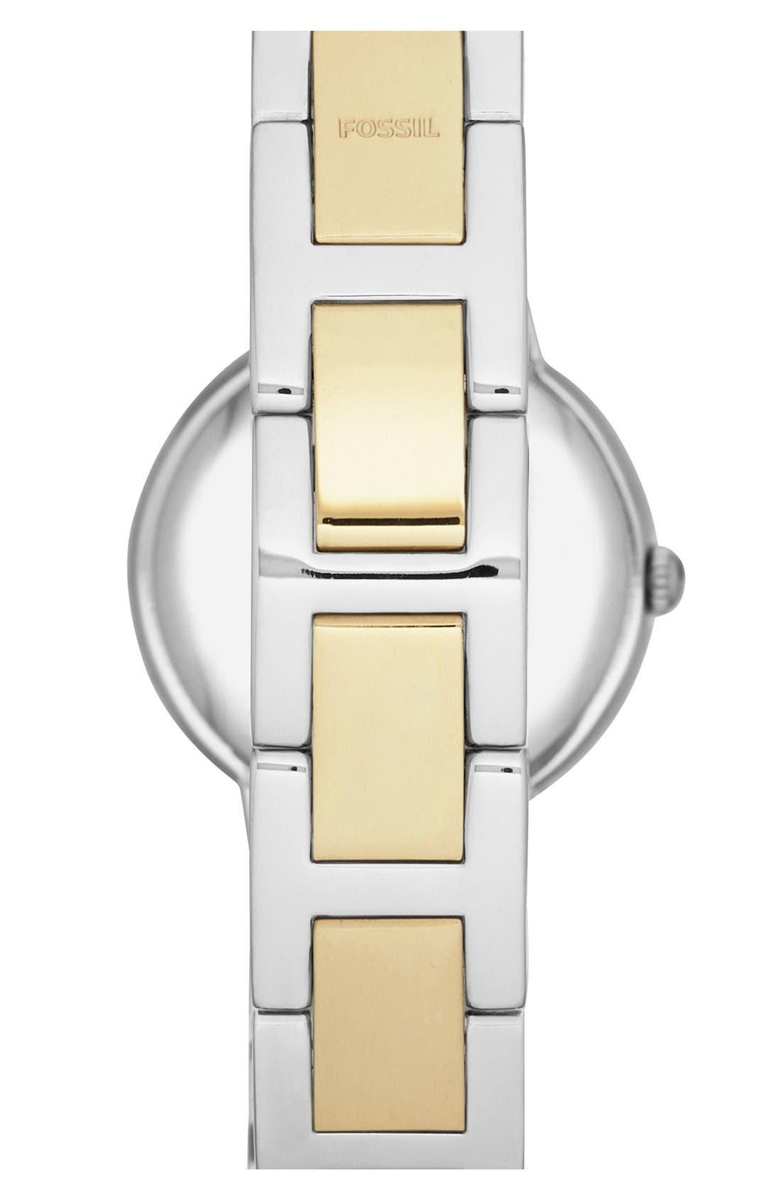 Alternate Image 2  - Fossil 'Virginia' Crystal Bezel Bracelet Watch, 34mm