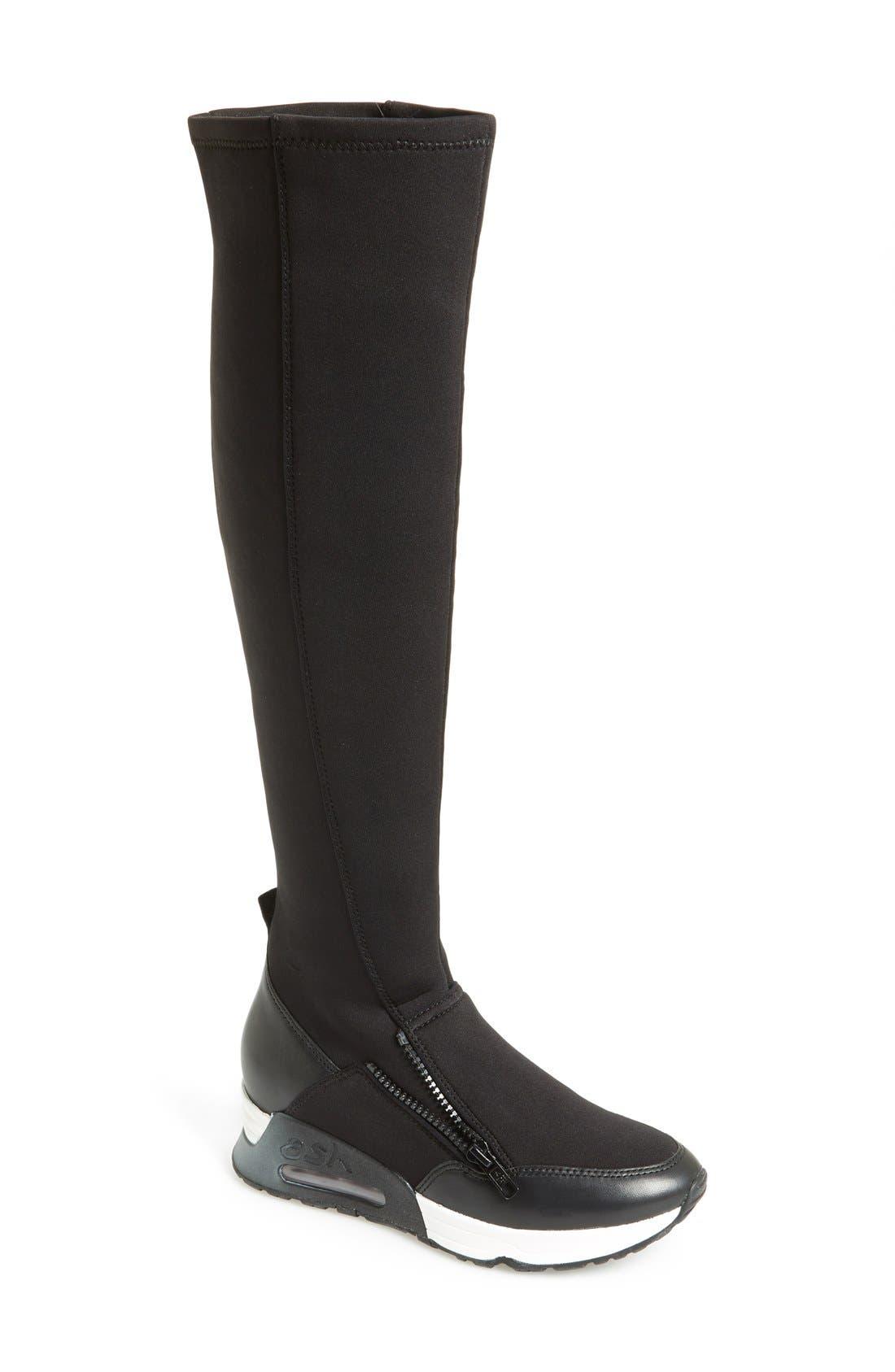 Main Image - Ash 'Lynx' Stretch Fabric Tall Sneaker Boot (Women)