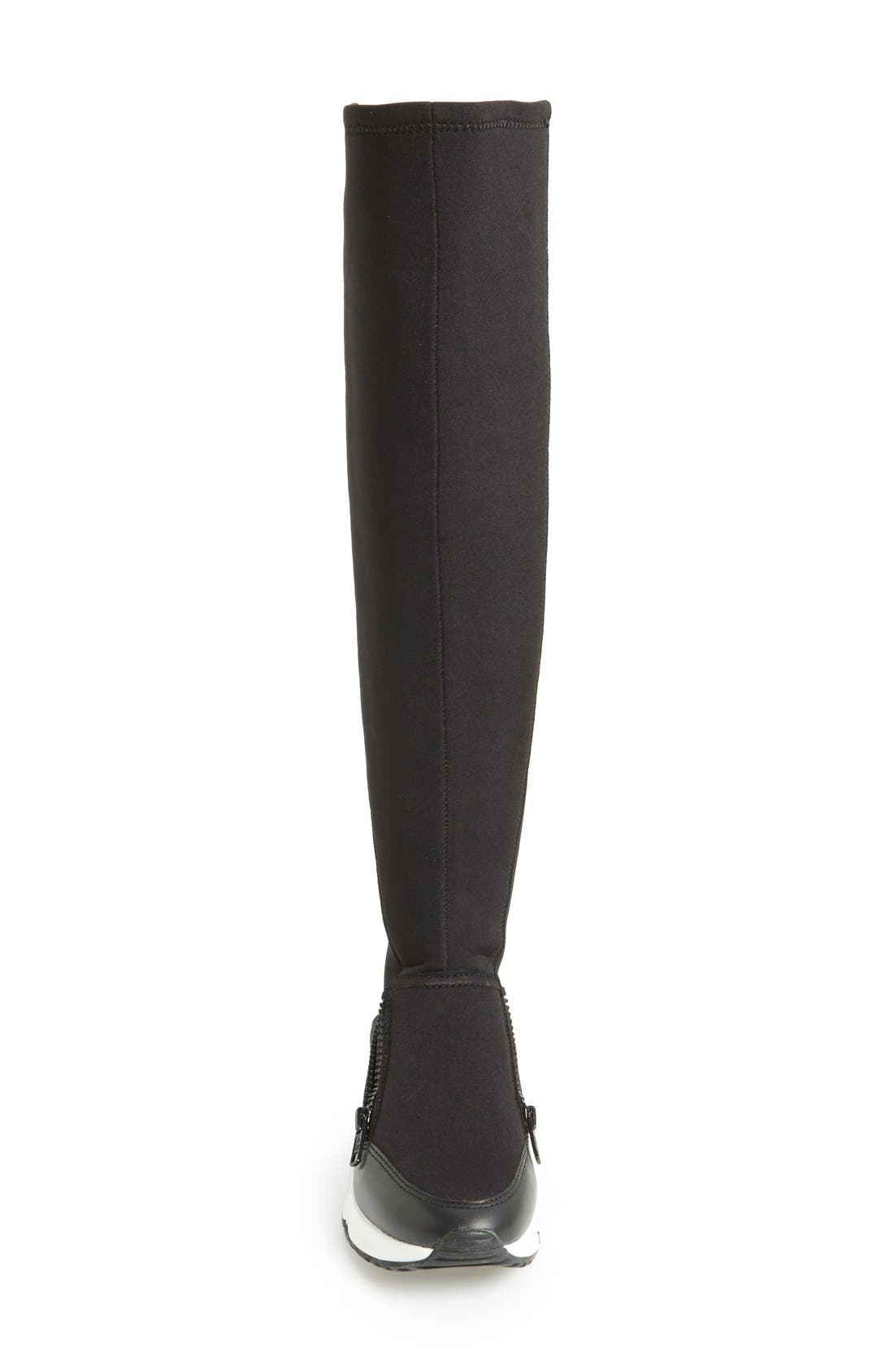 Alternate Image 3  - Ash 'Lynx' Stretch Fabric Tall Sneaker Boot (Women)