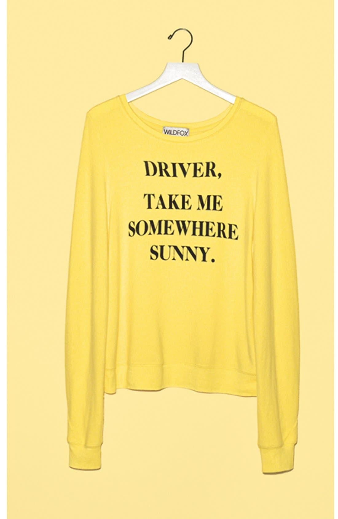 Alternate Image 4  - Wildfox 'Somewhere Sunny' Sweatshirt