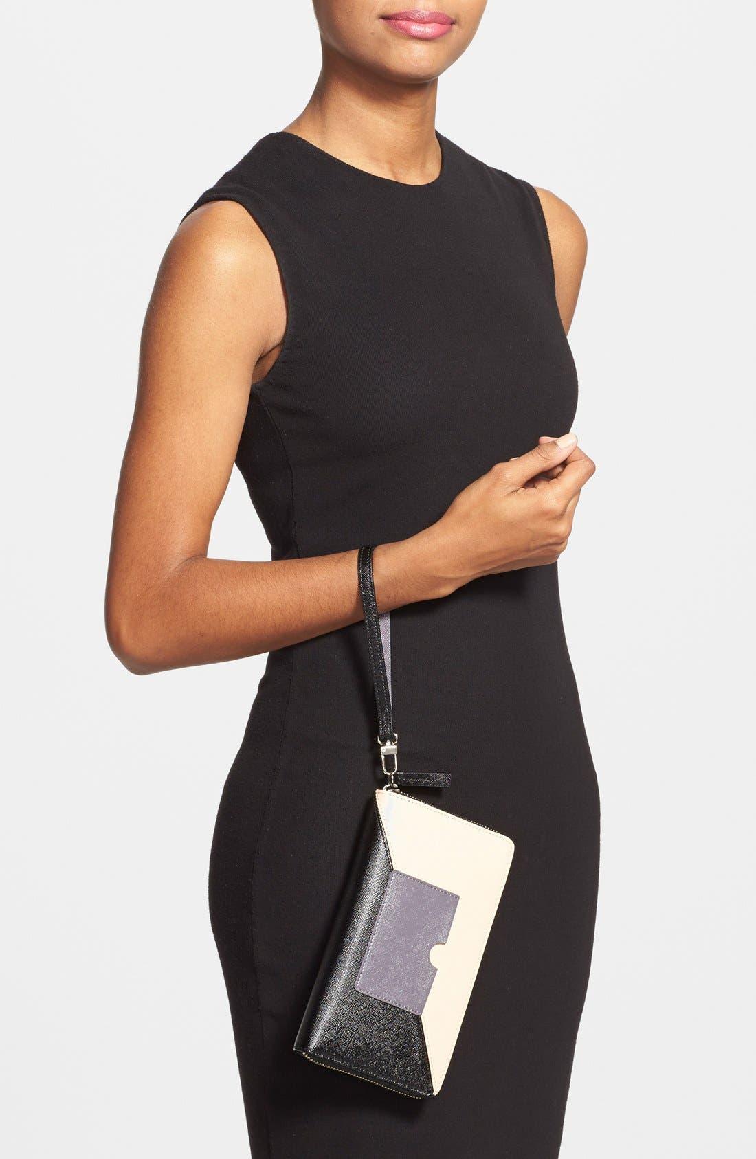 Alternate Image 4  - Halogen® Saffiano Leather Zip Around Wallet