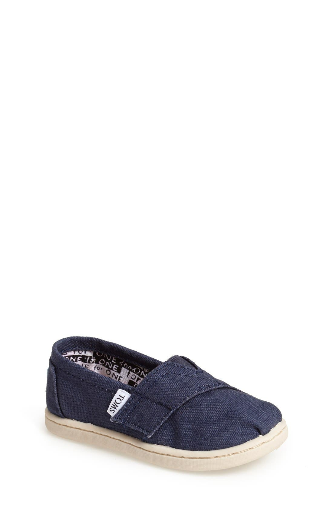 Alternate Image 1 Selected - TOMS 'Classic - Tiny' Slip-On (Baby, Walker & Toddler)