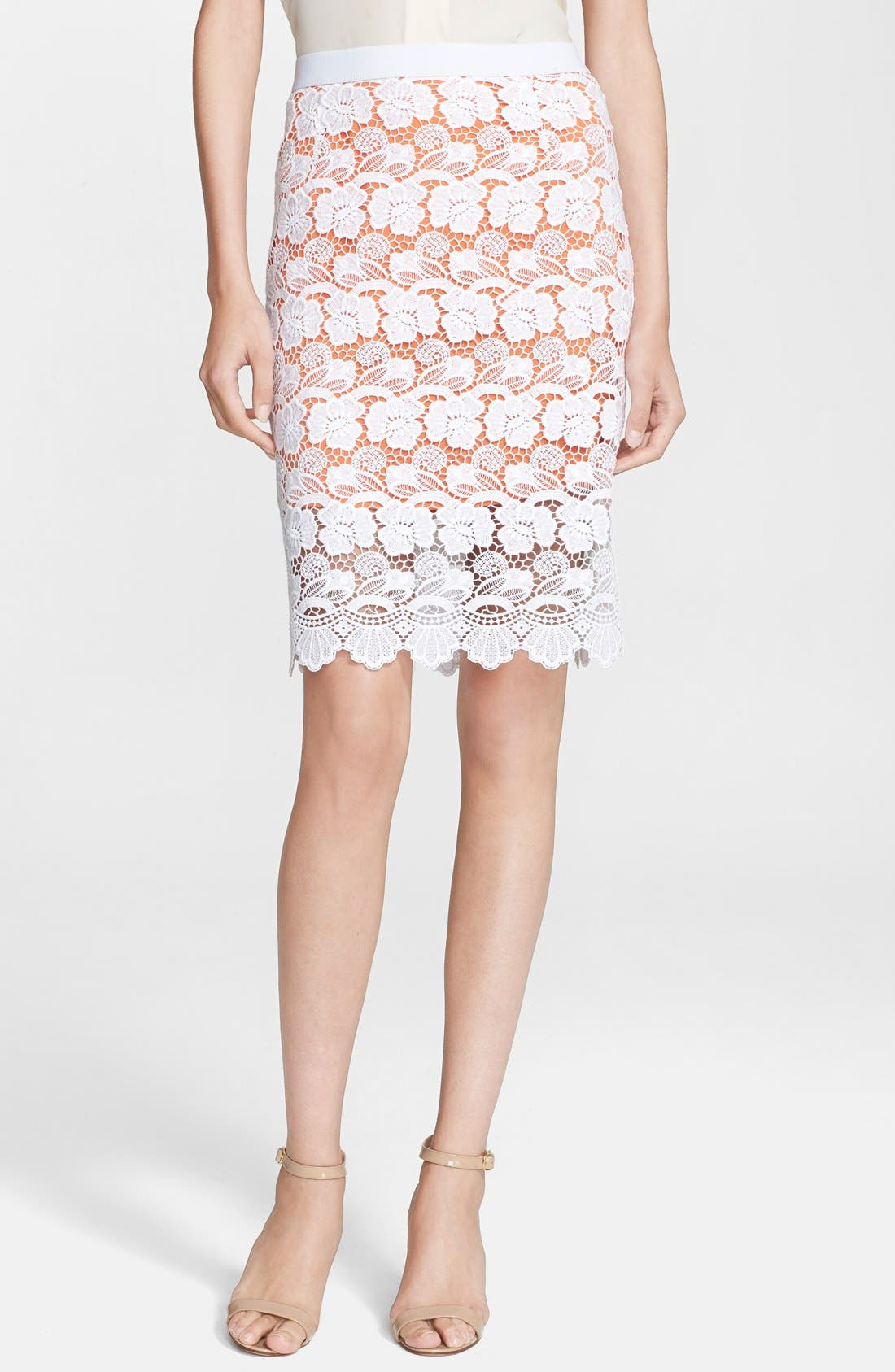 Alternate Image 1 Selected - Rebecca Minkoff 'Angelica' Lace Pencil Skirt