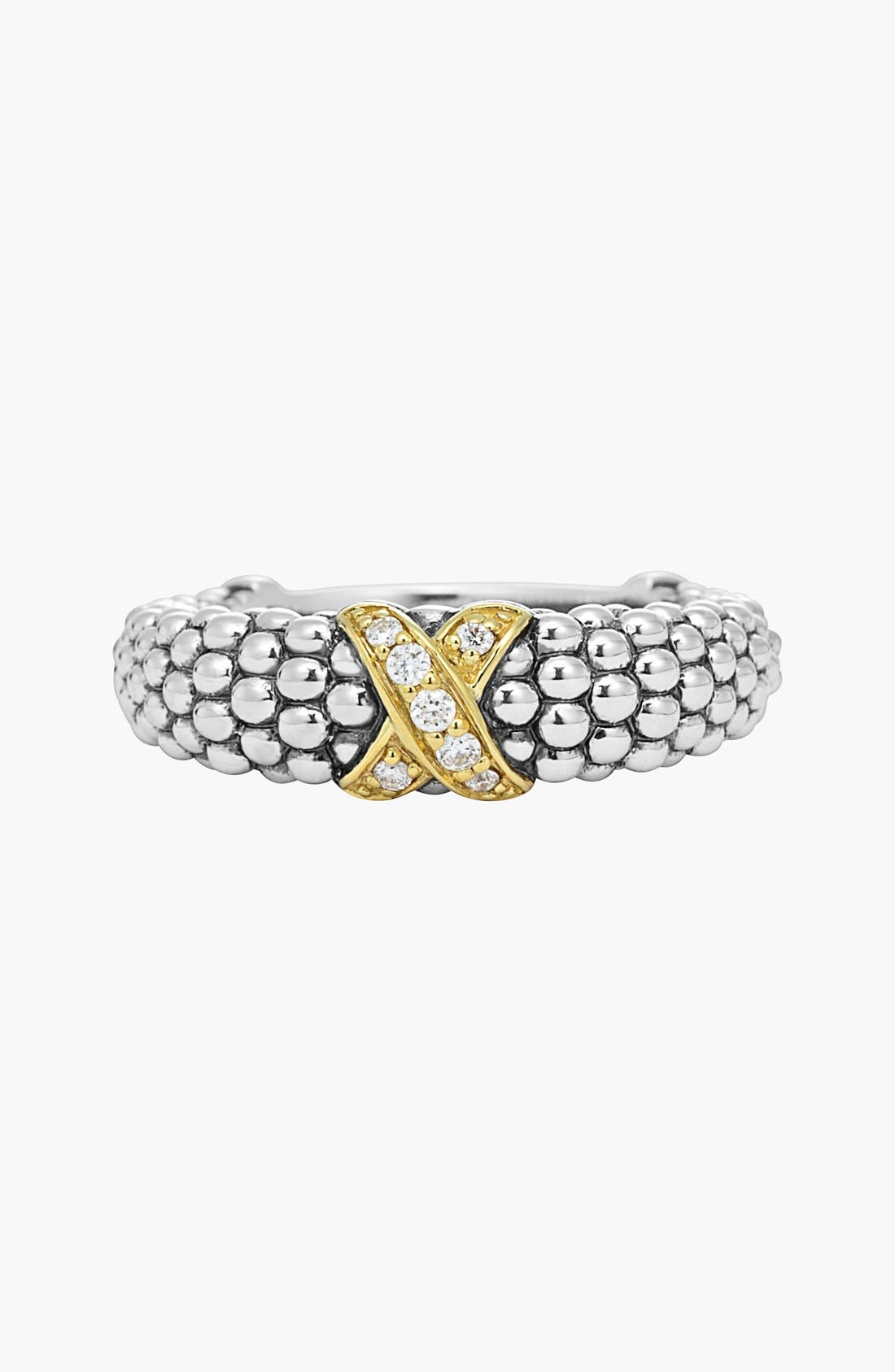 Alternate Image 3  - LAGOS 'X' Diamond & Caviar­™' Two Tone Ring