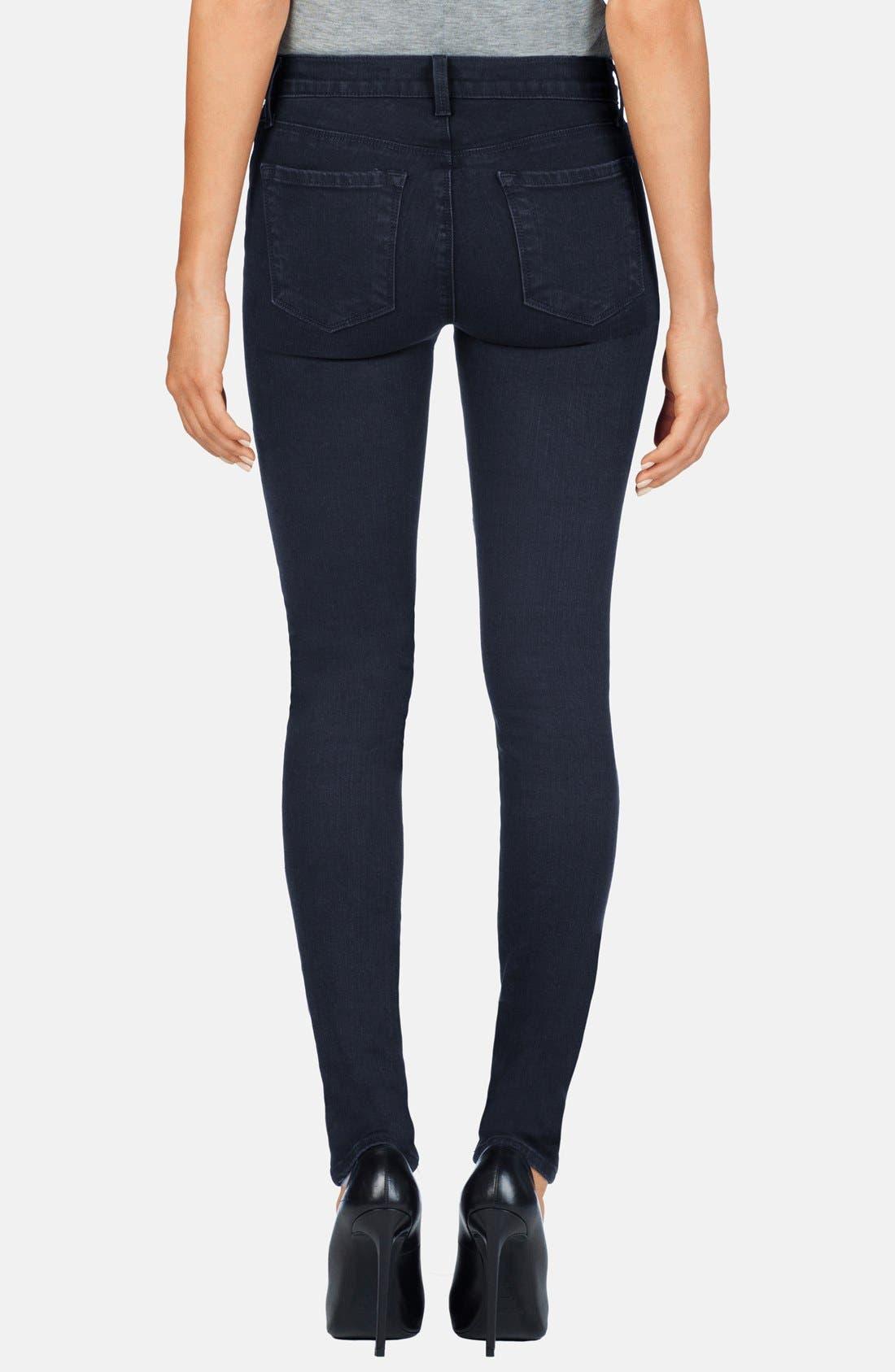 Alternate Image 2  - J Brand 'Nova' Paneled Skinny Jeans (Bluebird)