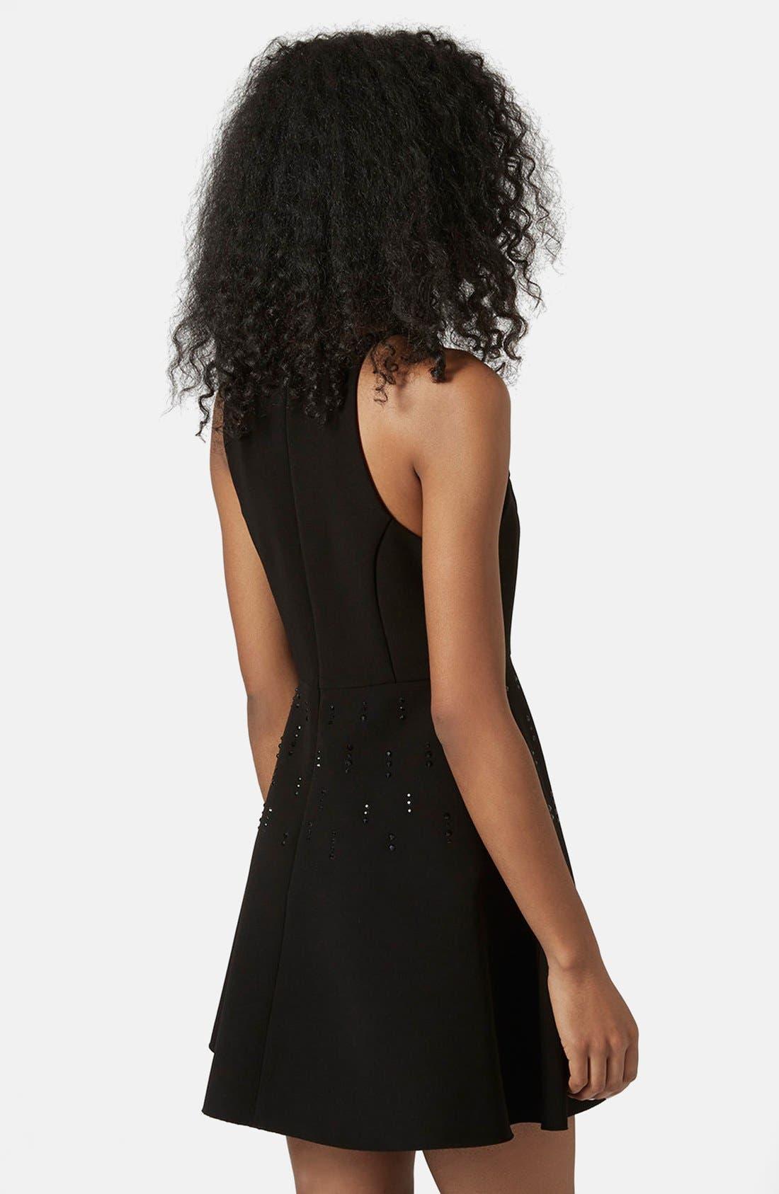 Alternate Image 2  - Topshop Embellished Skater Dress