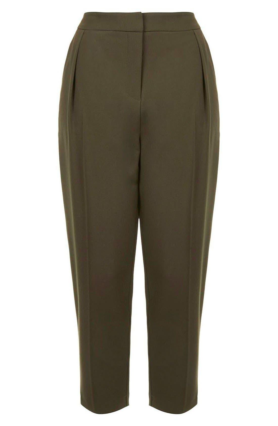 Alternate Image 4  - Topshop Straight Leg Crop Pants