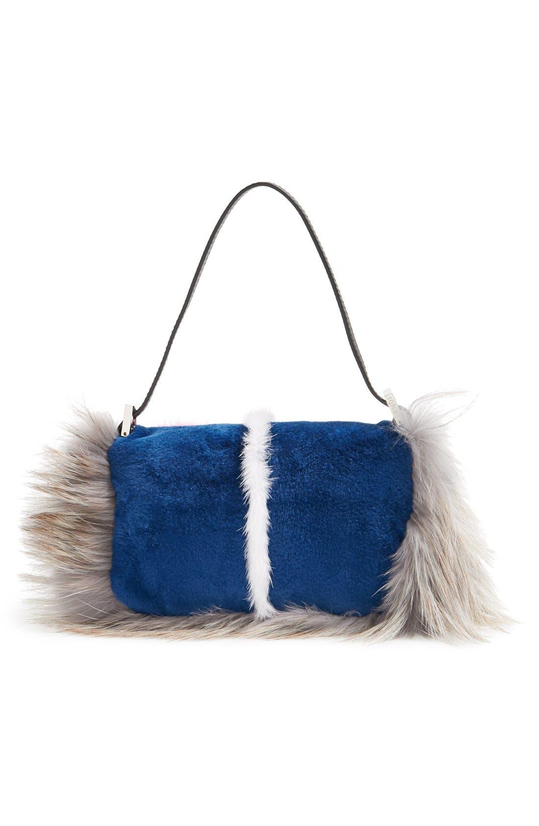 Alternate Image 4  - Fendi 'Monster' Genuine Mink & Genuine Fox Fur Mini Baguette