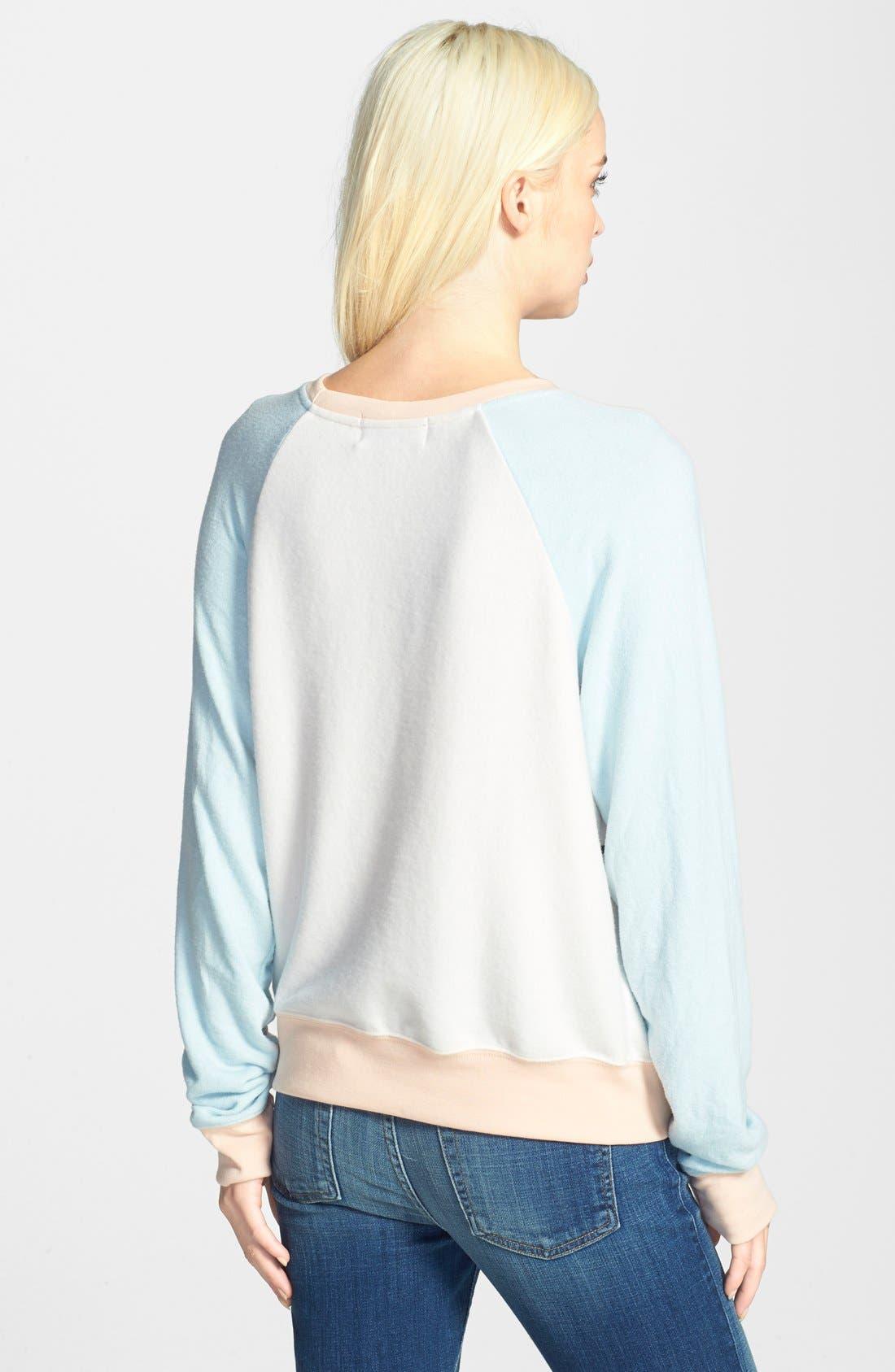 Alternate Image 2  - Wildfox 'Dancin' Raglan Sleeve Sweatshirt