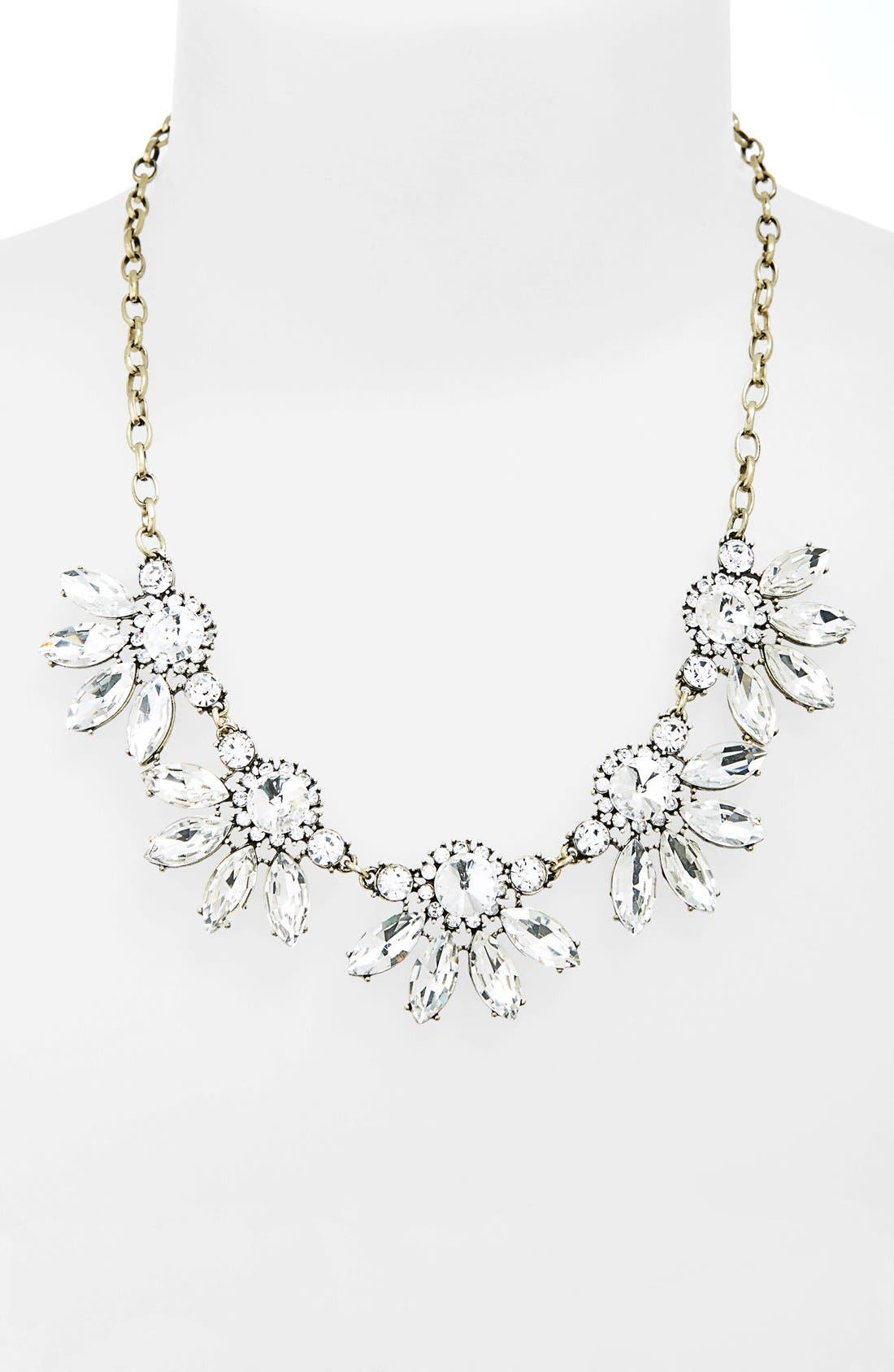 Alternate Image 1 Selected - BP. Crystal Fan Statement Necklace (Juniors)