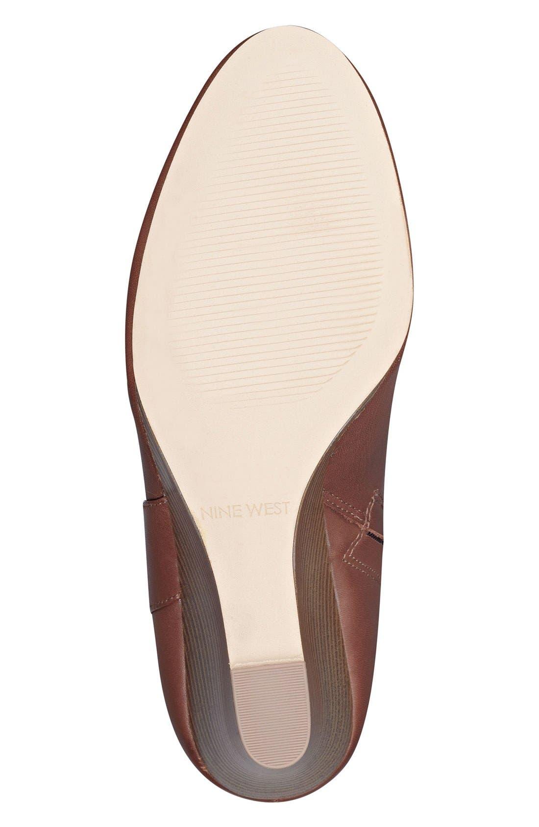Alternate Image 4  - Nine West Orsella Tall Wedge Boot (Women)