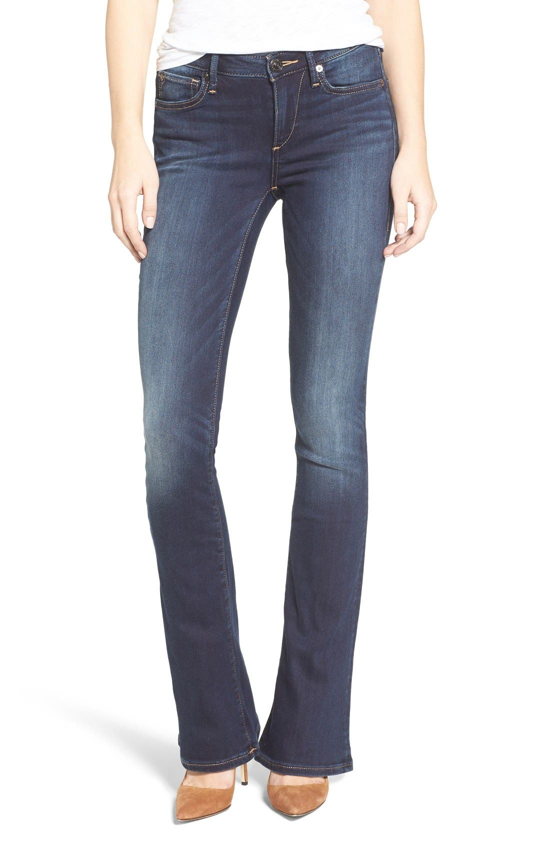 True Religion Brand Jeans Jennie Curvy Bootcut Jeans (Native Orca Clean)