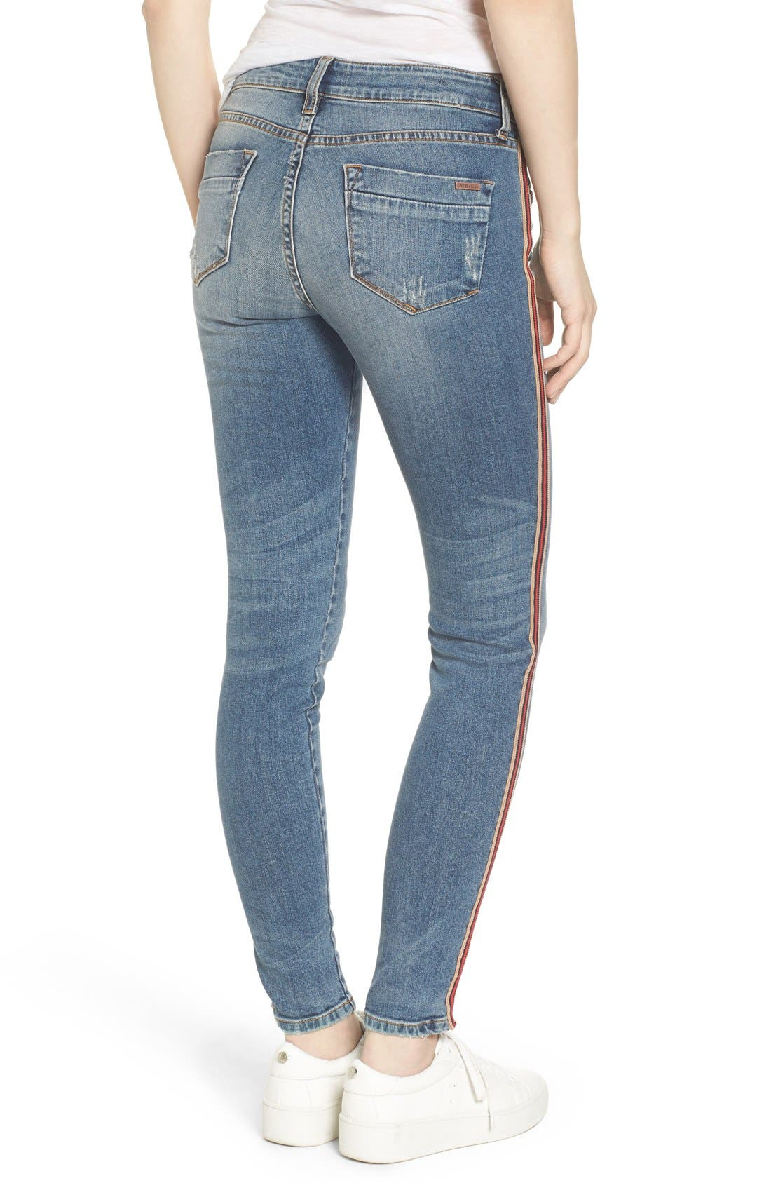 Alternate Image 3  - STS Blue Piper Athletic Stripe Skinny Jeans (West Oakville)