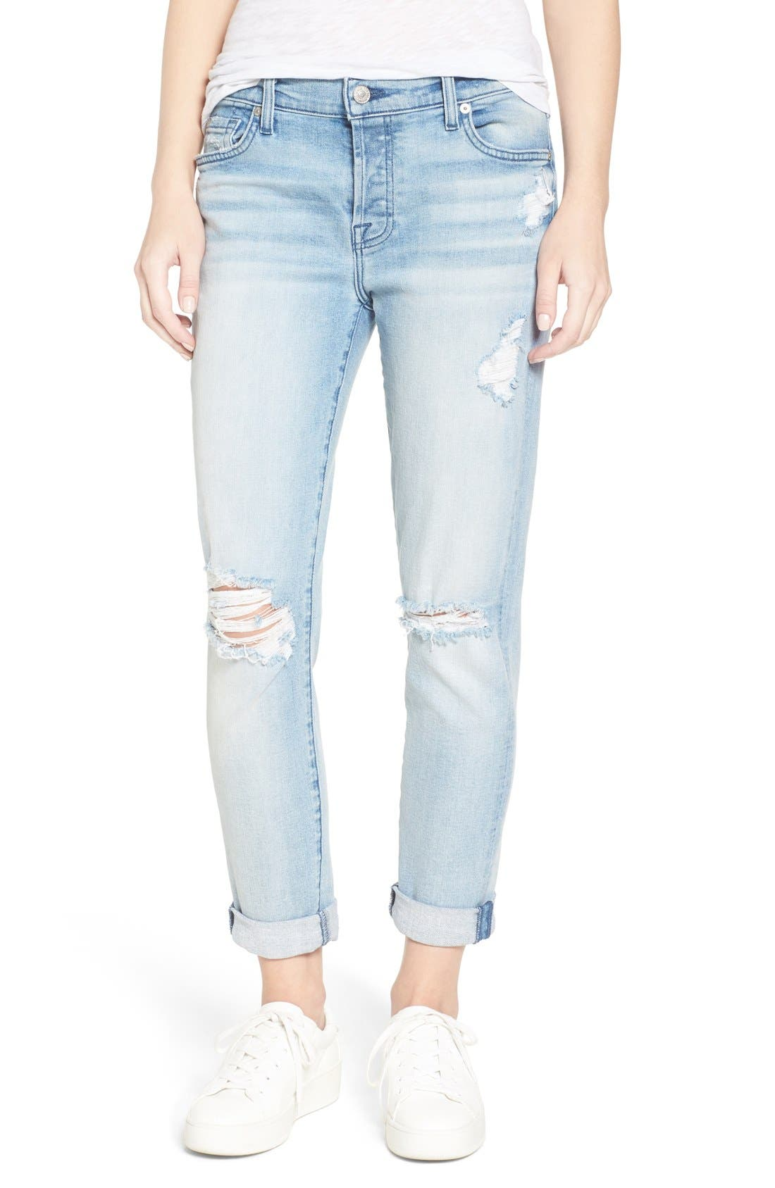Main Image - 7 For All Mankind® 'Josefina' Boyfriend Jeans (Bright Bristol 2)