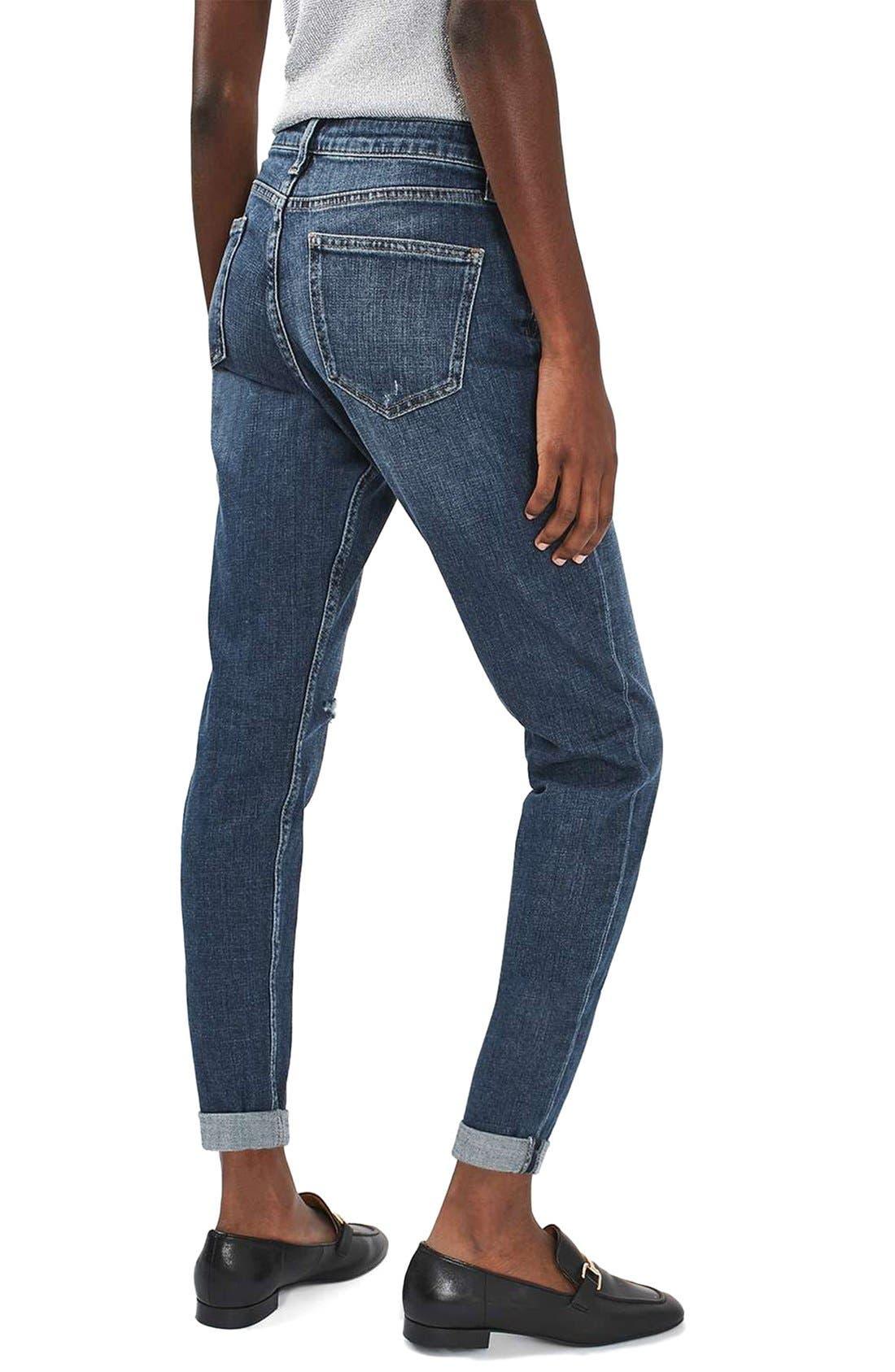 Alternate Image 3  - Topshop Lucas Ripped Boyfriend Jeans (Petite)