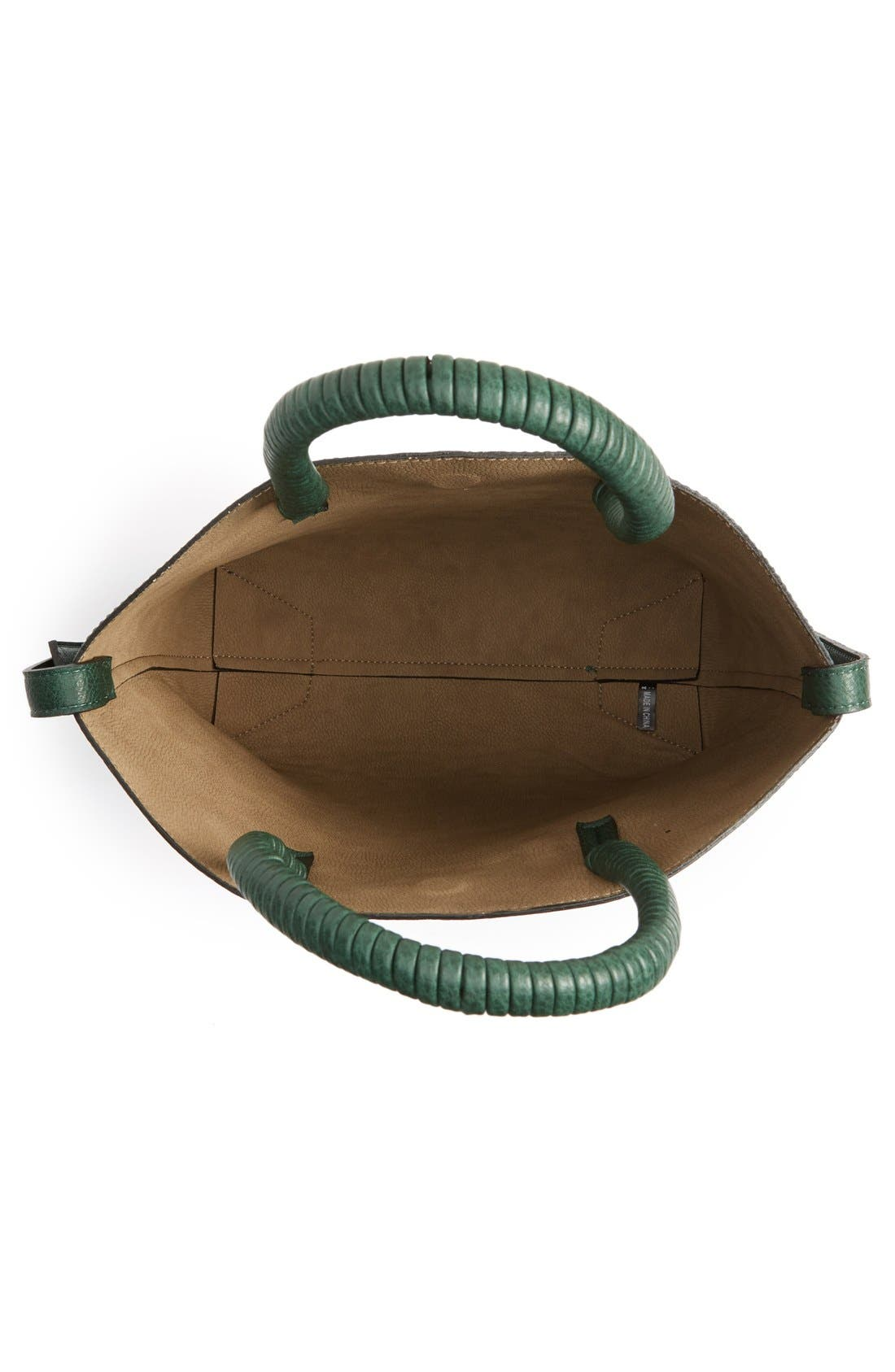 Alternate Image 4  - Street Level Faux Leather Dome Tote