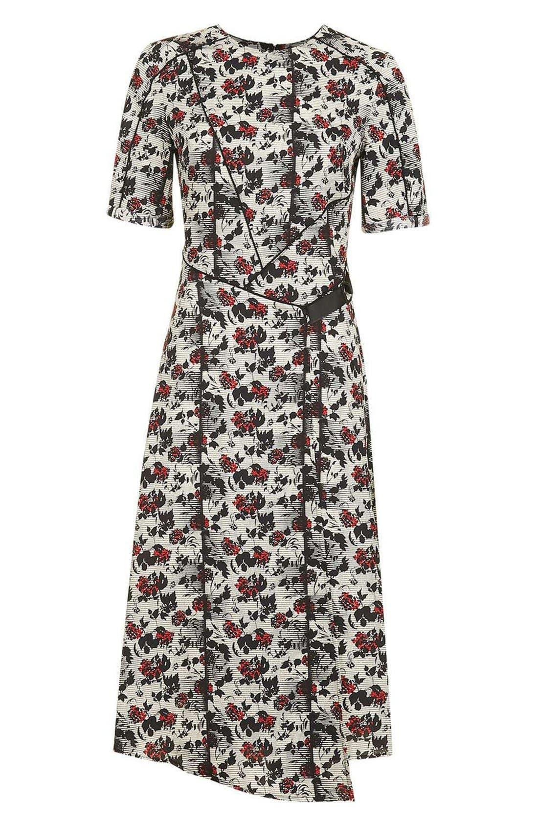 Alternate Image 4  - Topshop Floral Midi Dress