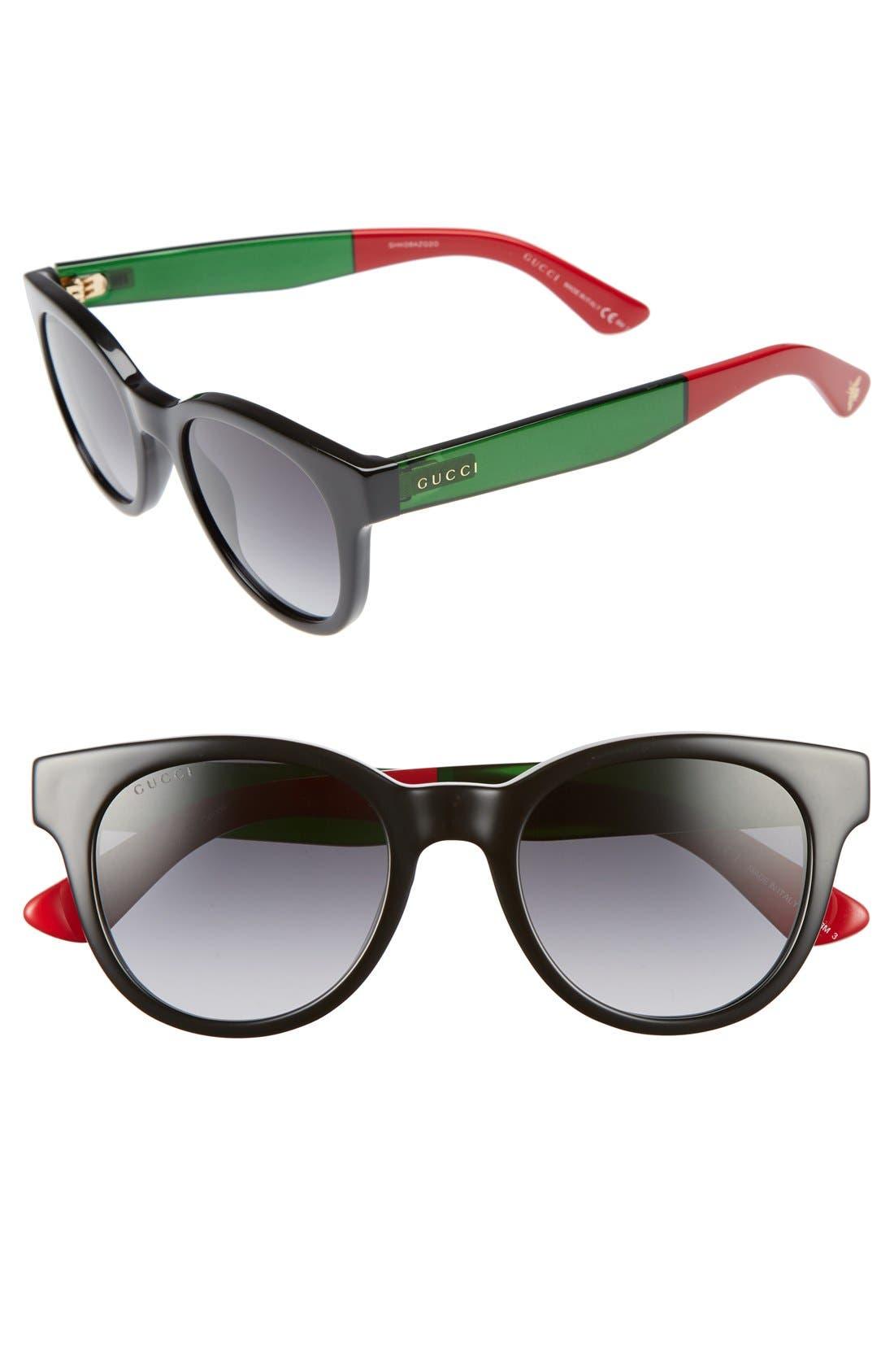 Alternate Image 1 Selected - Gucci Colorblock Sunglasses