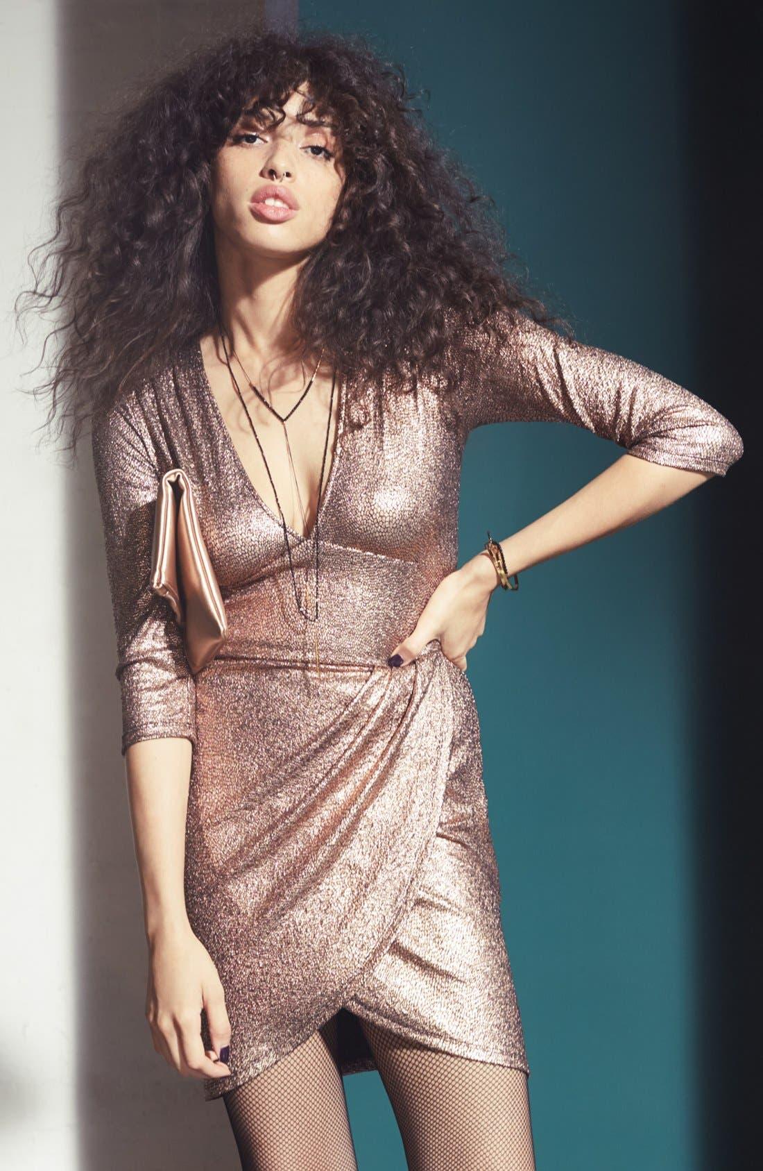 Alternate Image 8  - Leith Metallic Body-Con Dress
