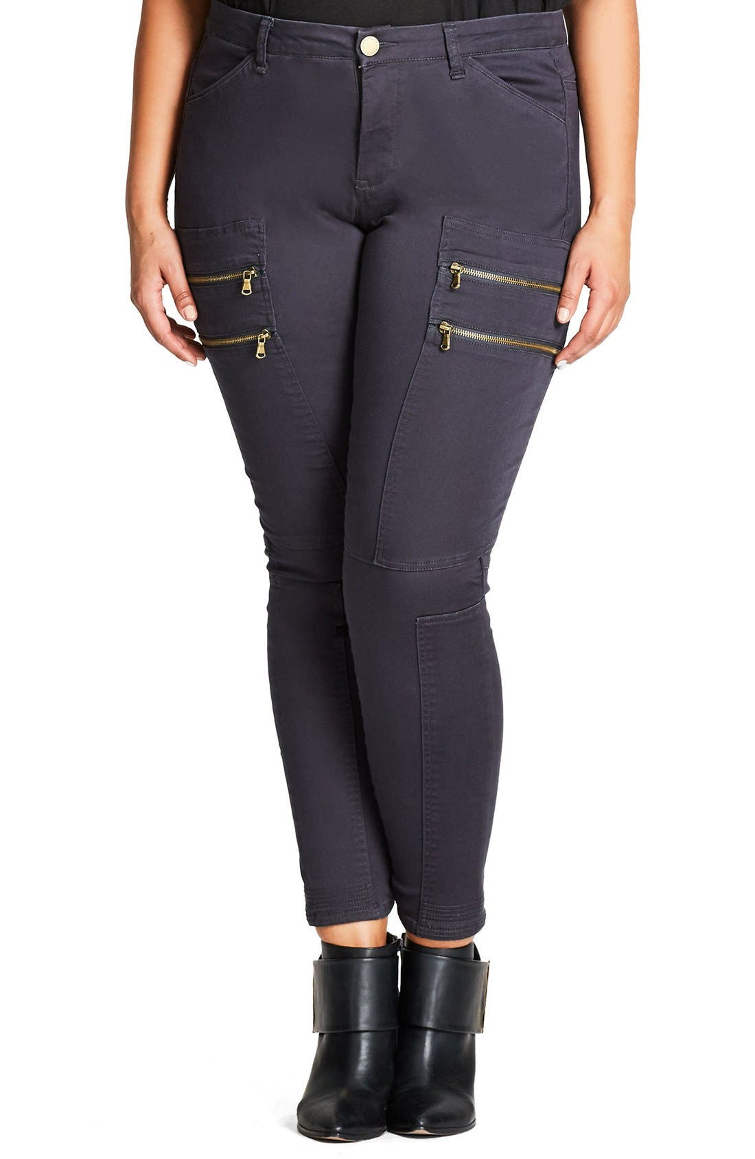CITY CHIC Commando Zip Skinny Pants