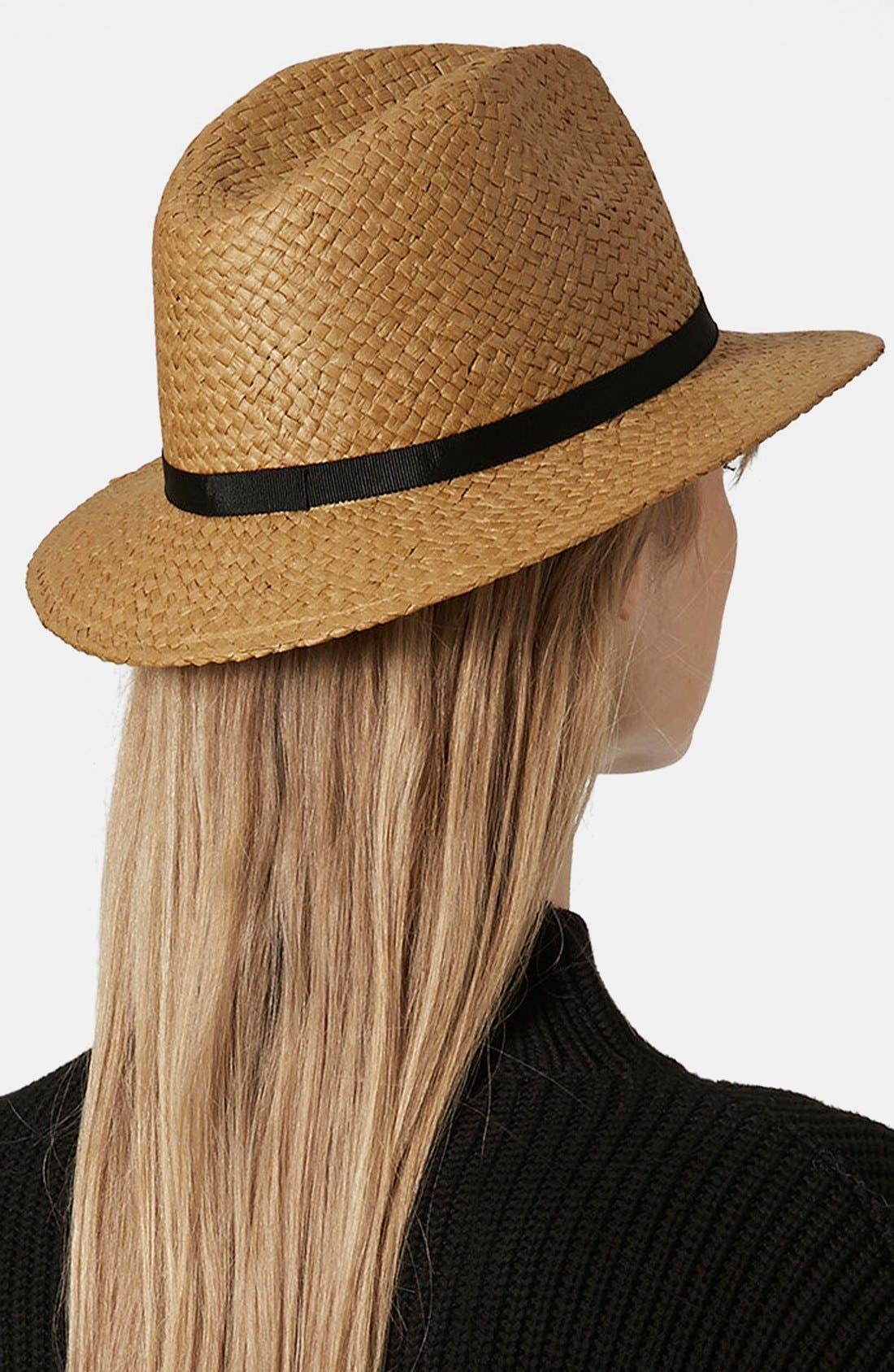 Alternate Image 3  - Topshop Floppy Straw Hat