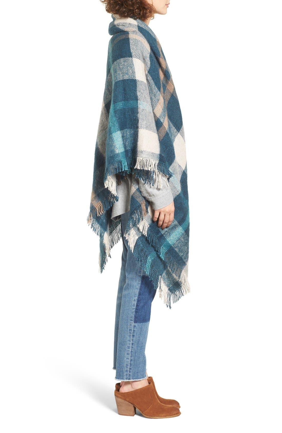Alternate Image 3  - Treasure&Bond Plaid Blanket Wrap