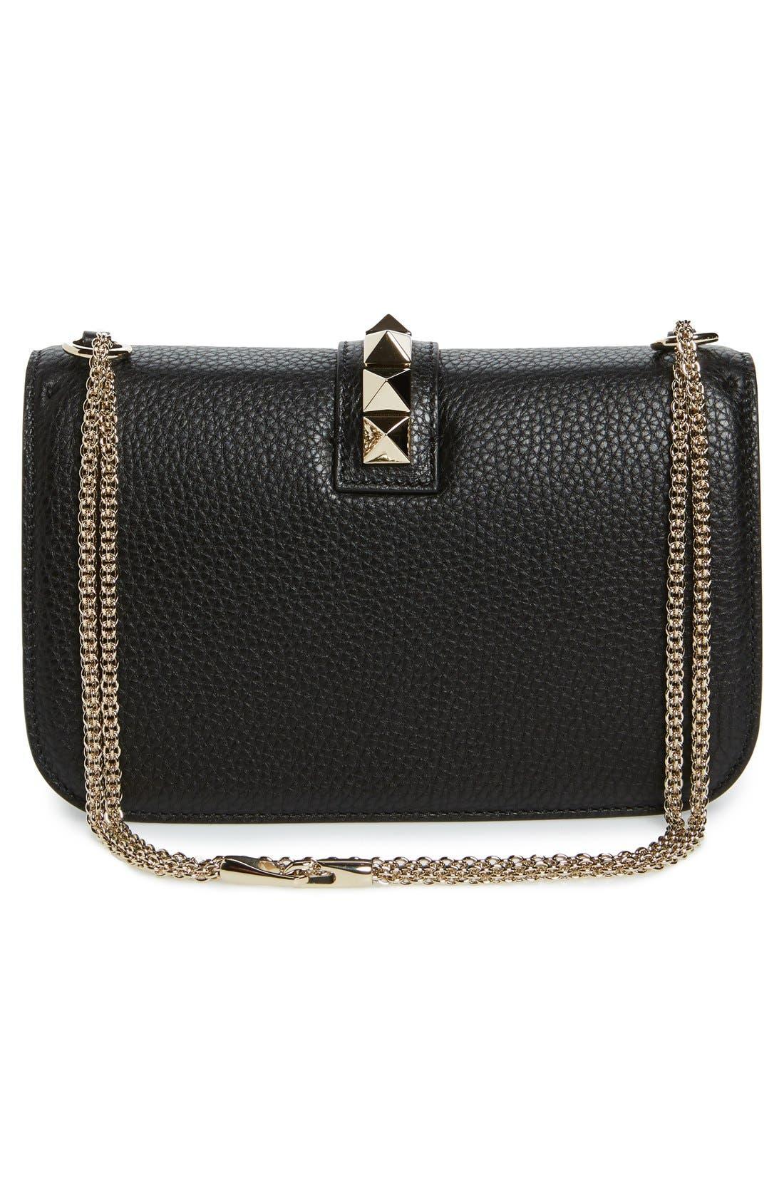 Alternate Image 3  - Valentino Medium Lock Studded Leather Shoulder Bag