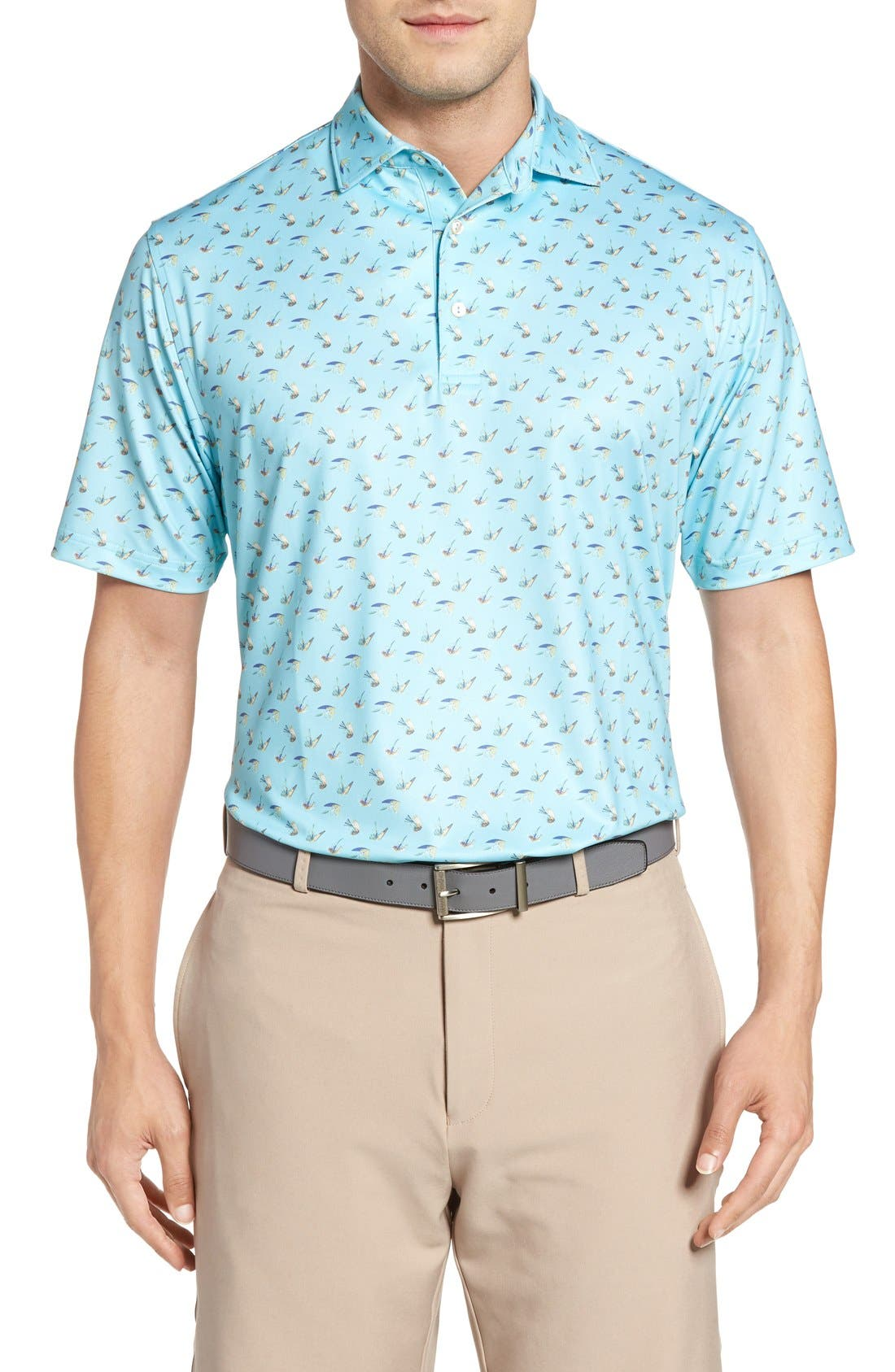 Peter Millar Pointer Mini Dot Golf Polo