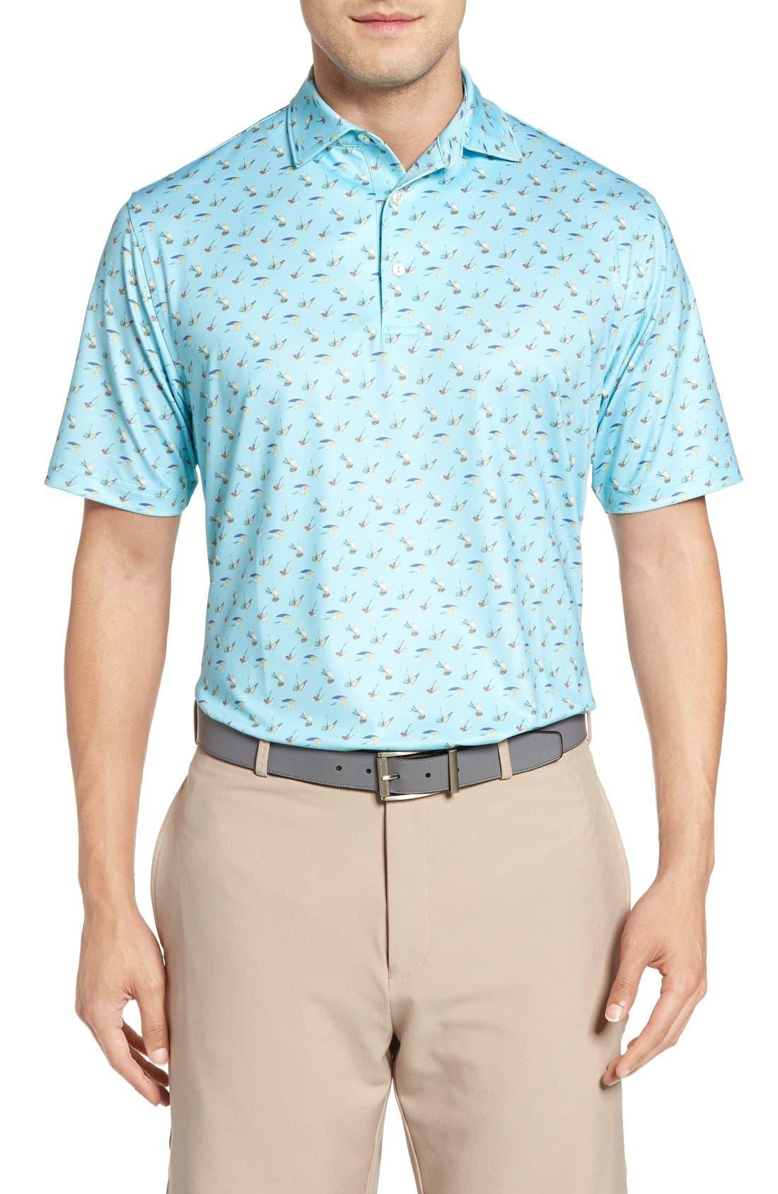 Peter Millar Pointer Mini Dot Golf Polo