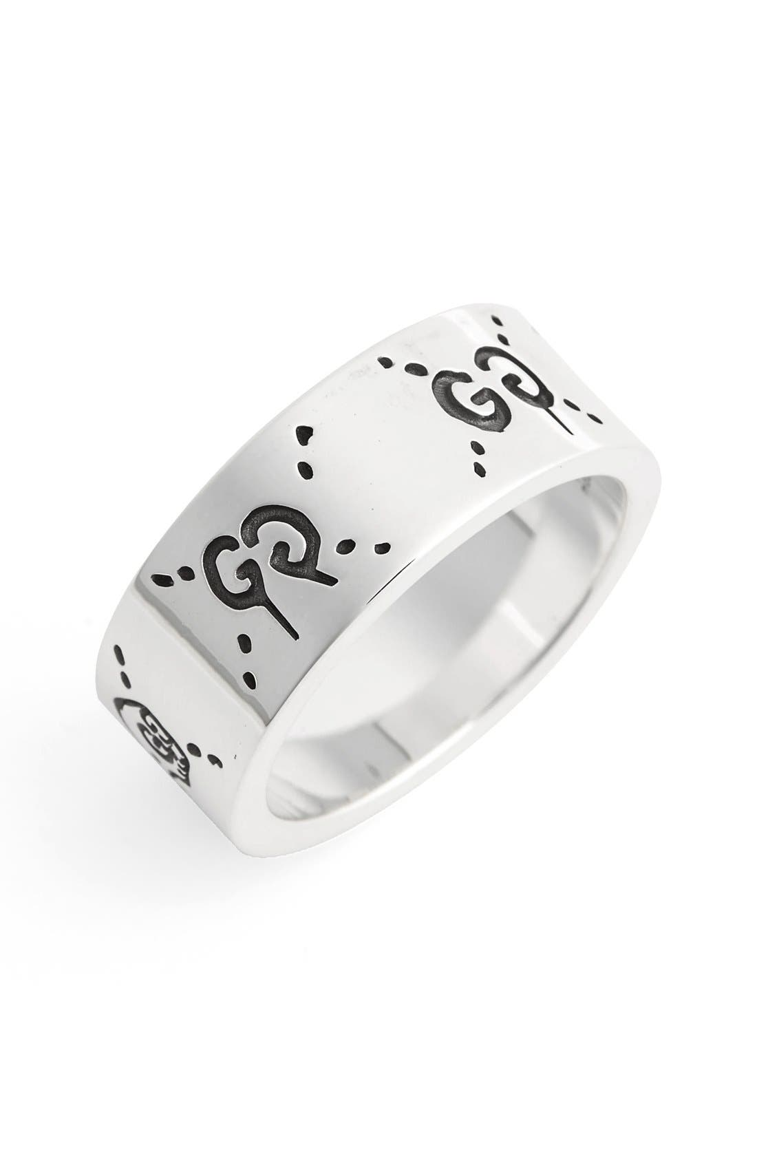 gucci guccighost sterling silver ring nordstrom