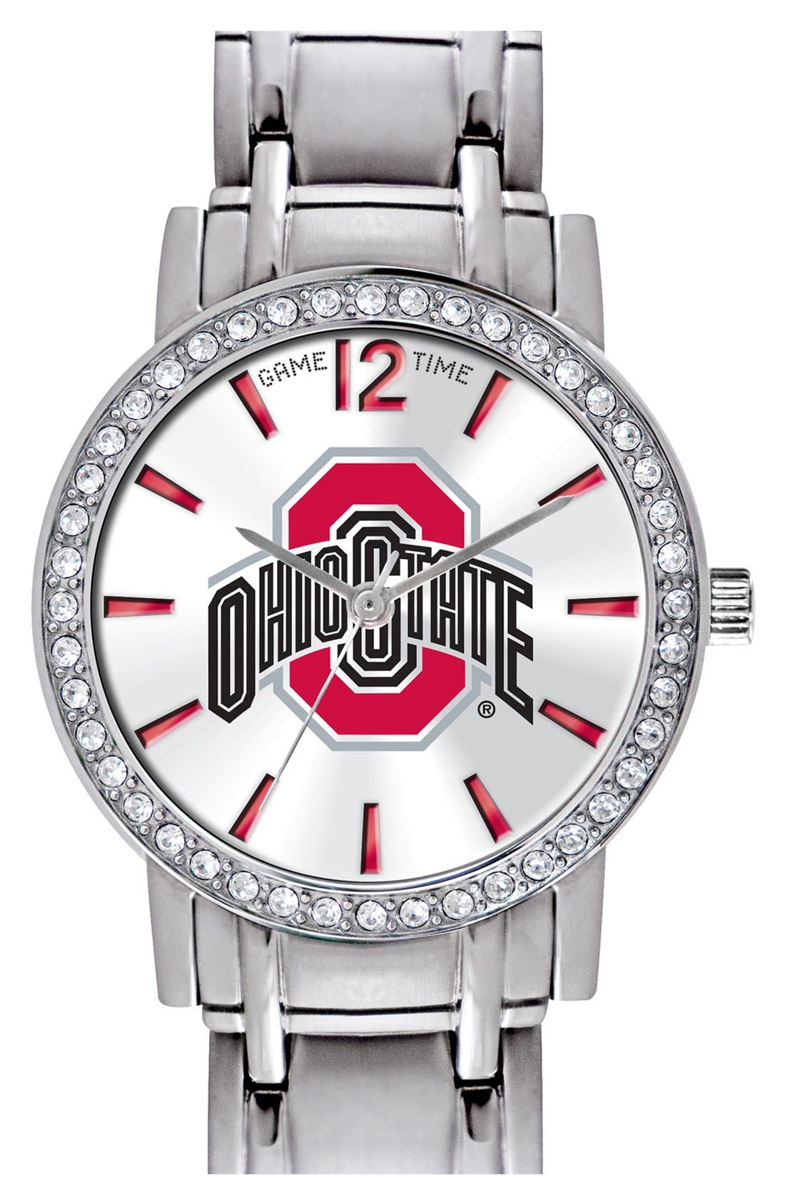 Alternate Image 1 Selected - Game Time Watches 'College All Star - Ohio State University' Crystal Bezel Bracelet Watch, 32mm