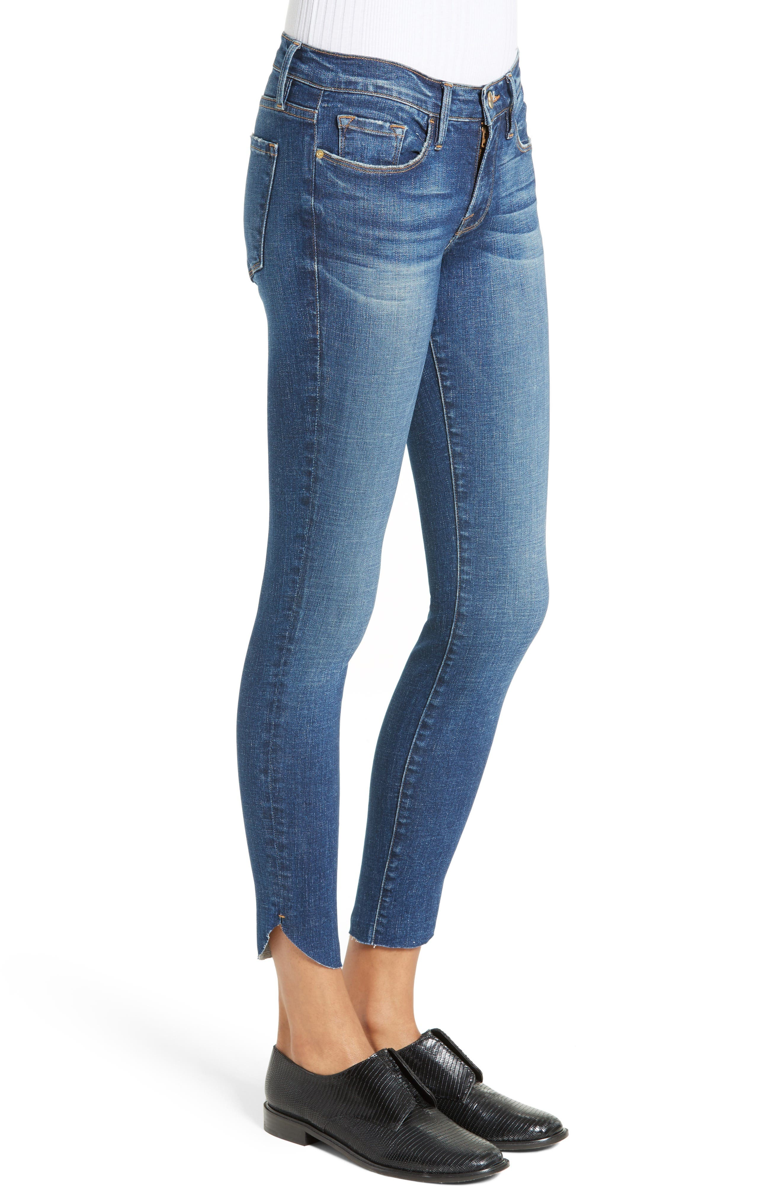 Alternate Image 3  - FRAME Le Skinny Raw Tulip Crop Jeans (York) (Nordstrom Exclusive)