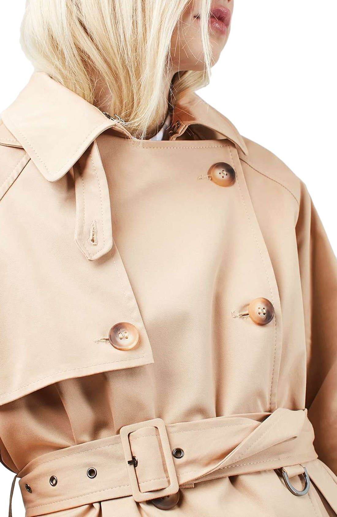 Alternate Image 5  - Topshop Trench Coat